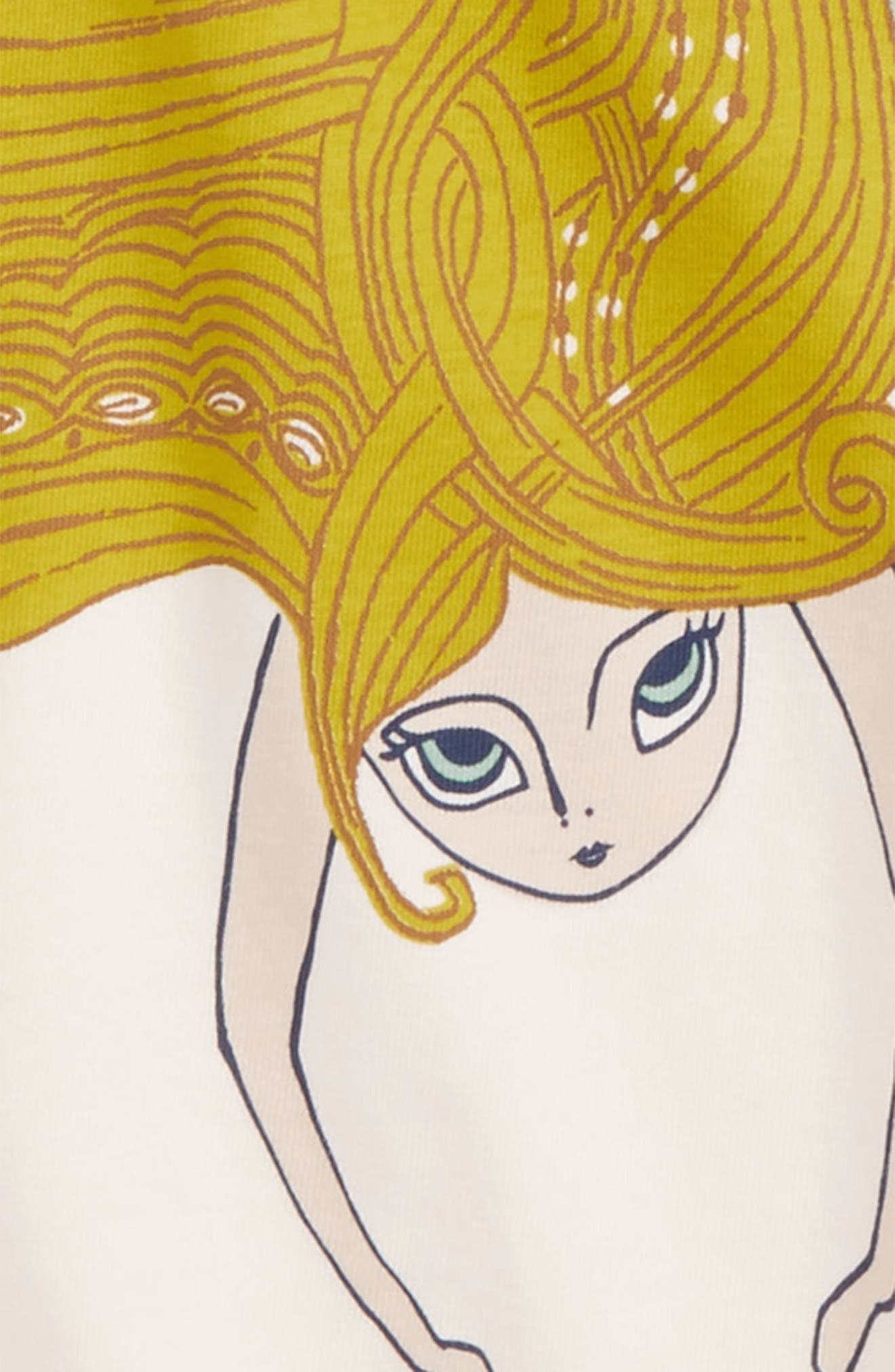 Alternate Image 2  - Tea Collection Finfolk Graphic Print Top (Toddler Girls, Little Girls & Big Girls)