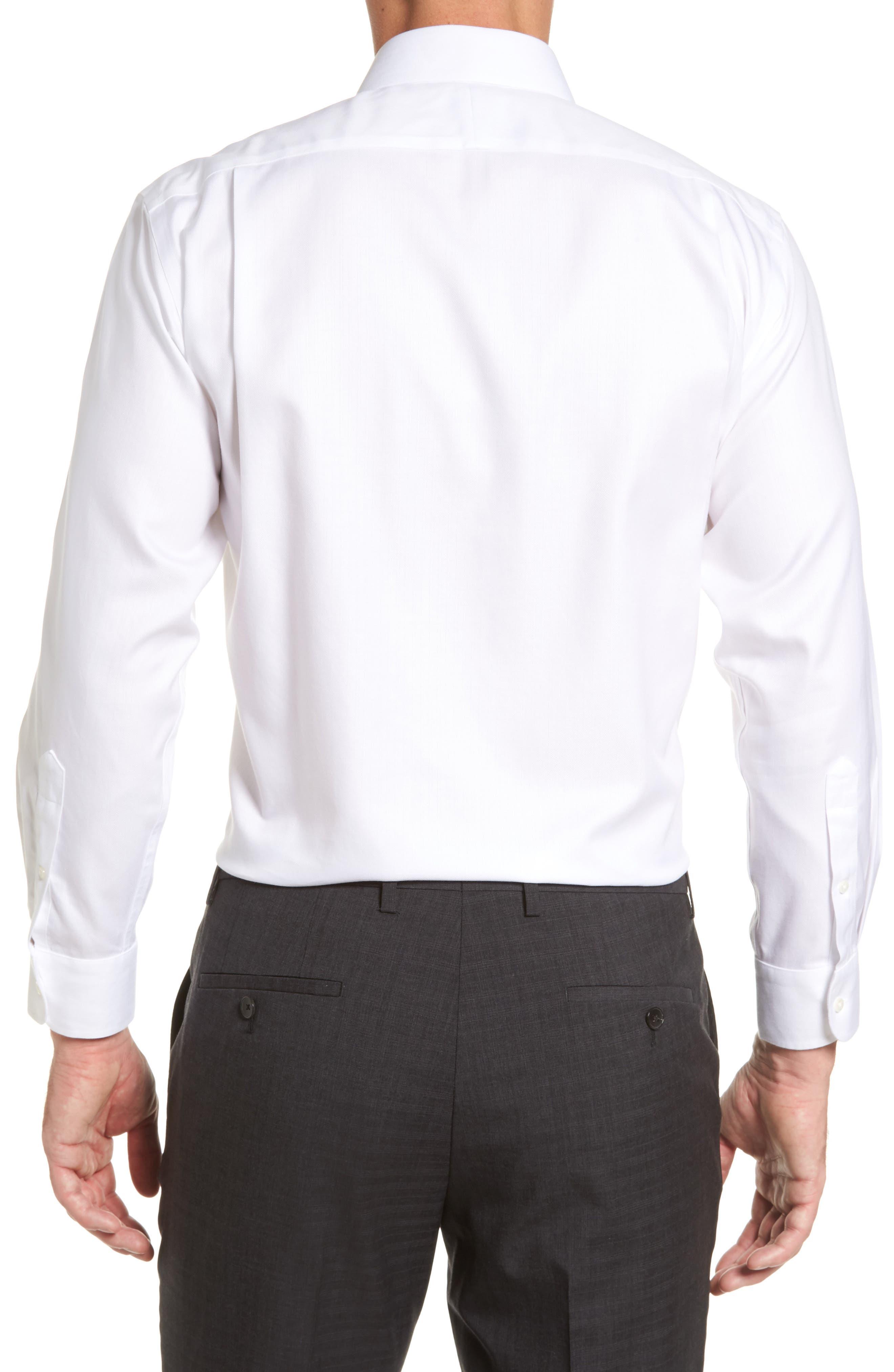 Smartcare<sup>™</sup> Traditional Fit Herringbone Dress Shirt,                             Alternate thumbnail 2, color,                             White