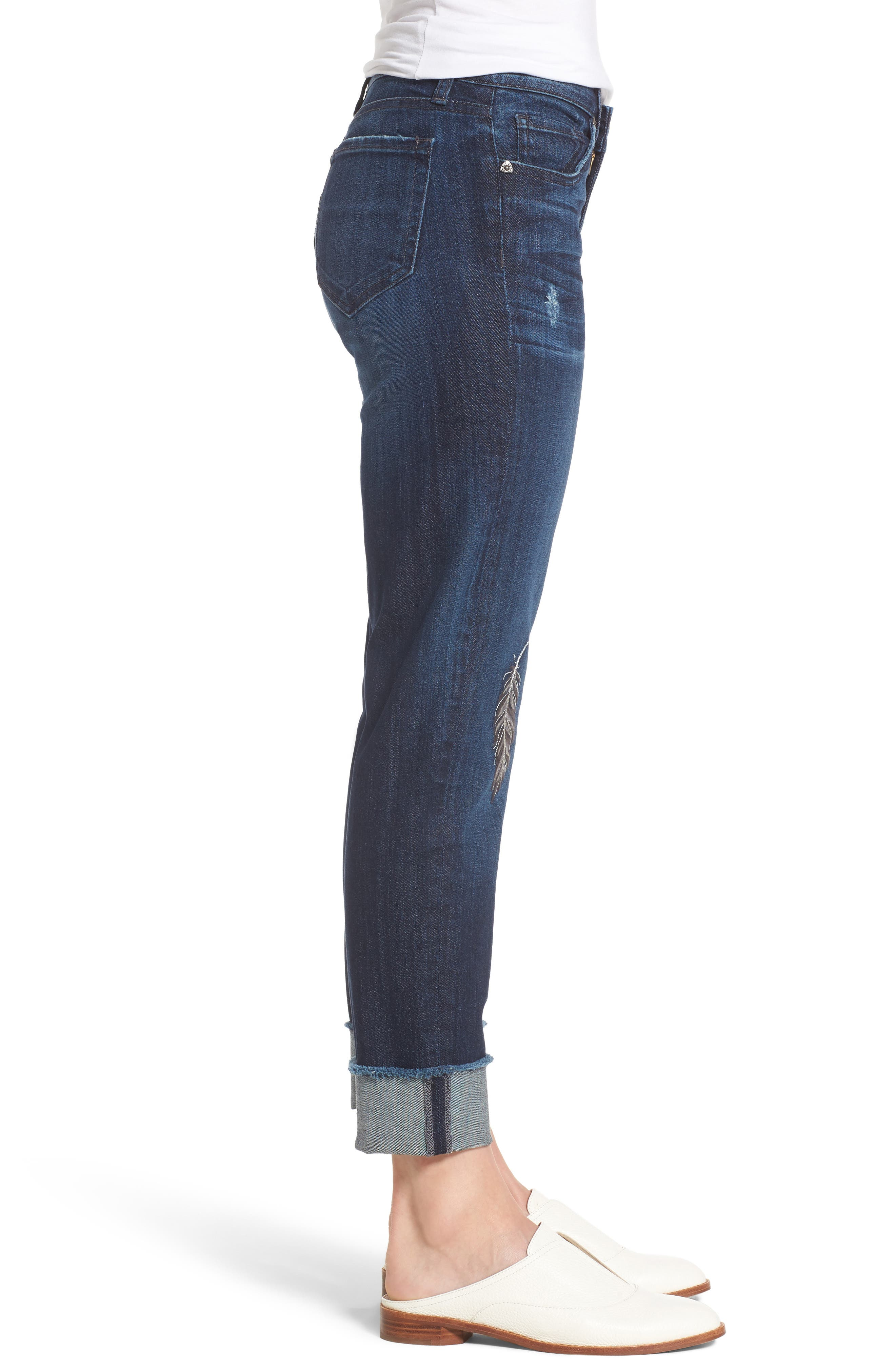 Alternate Image 3  - KUT from the Kloth Amy Cuffed Crop Jeans (Overt)