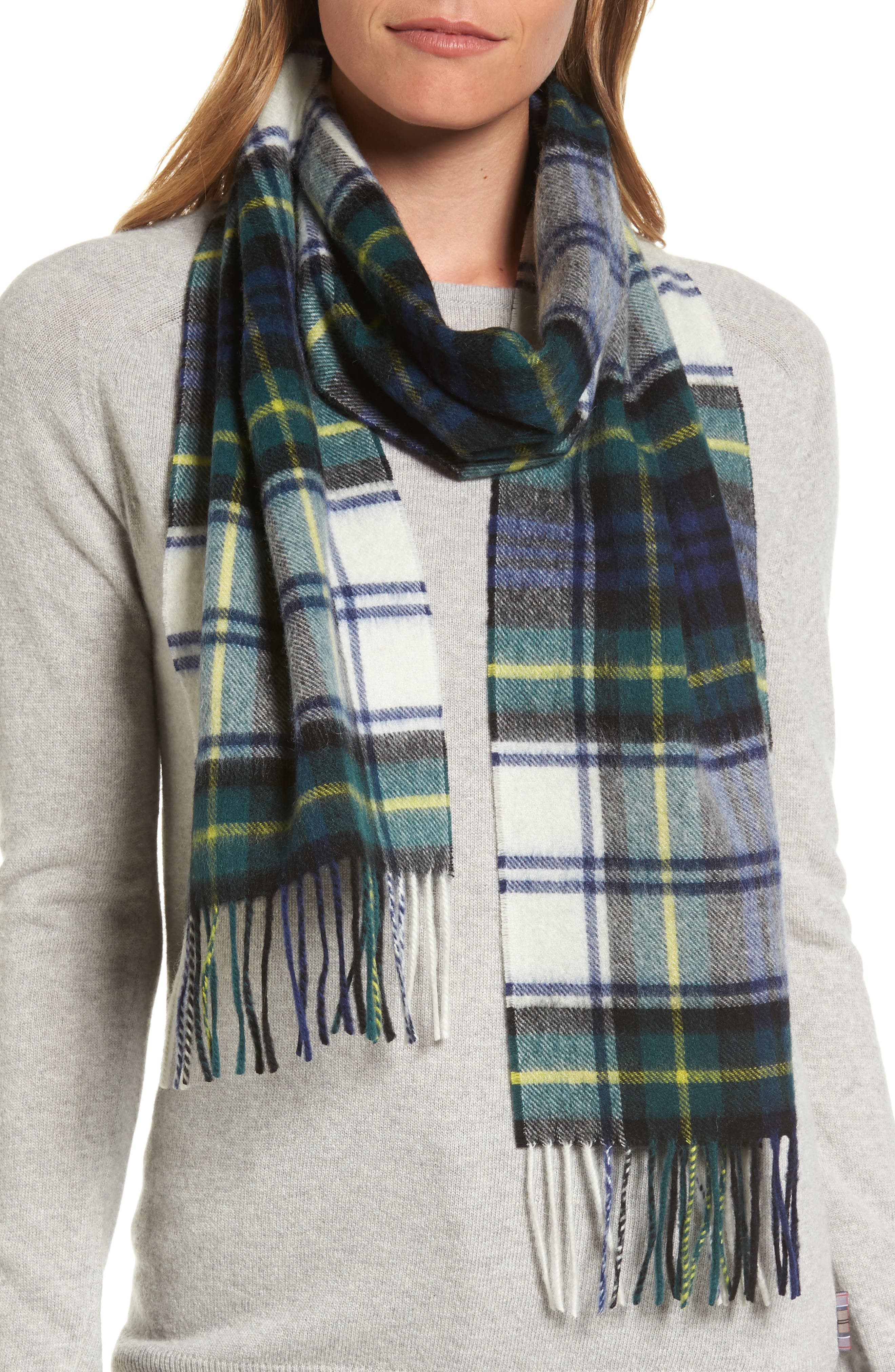Alternate Image 1 Selected - Barbour 'Shilhope' Plaid Wool Scarf