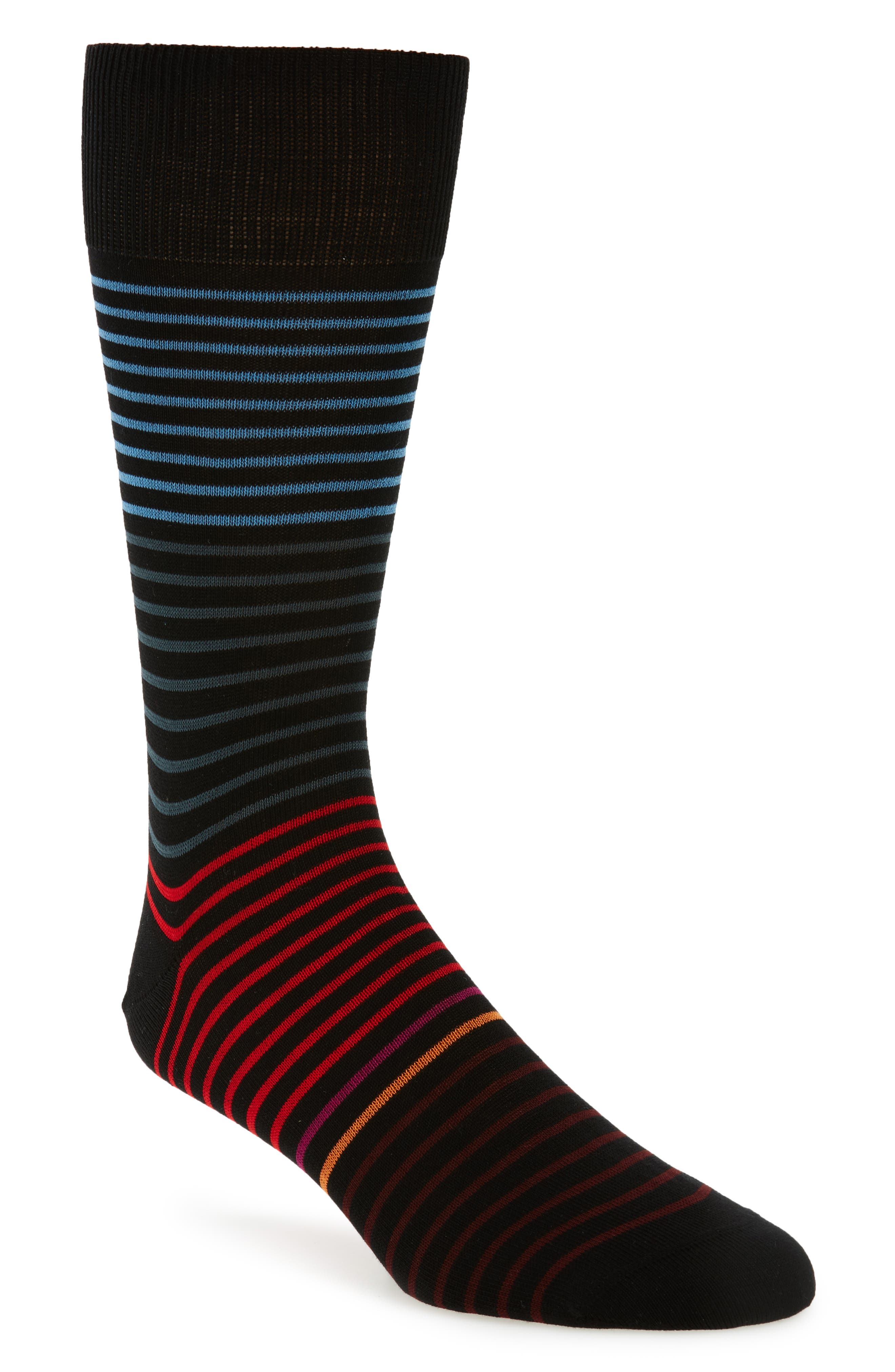 Cornelius Stripe Socks,                             Main thumbnail 1, color,                             Black