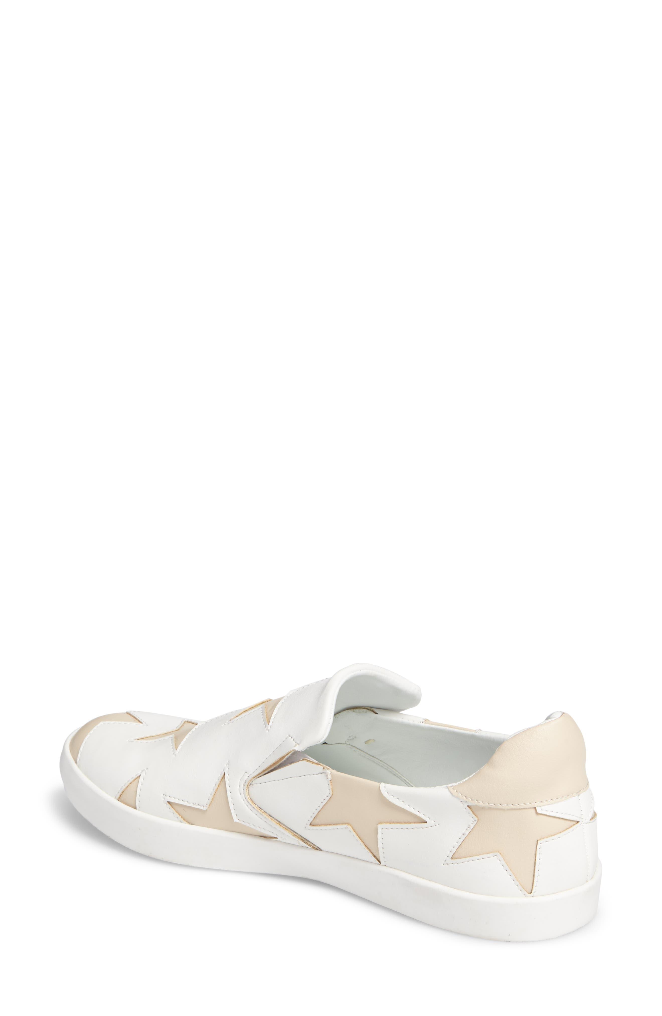 Highlight Slip-On Star Sneaker,                             Alternate thumbnail 2, color,                             White