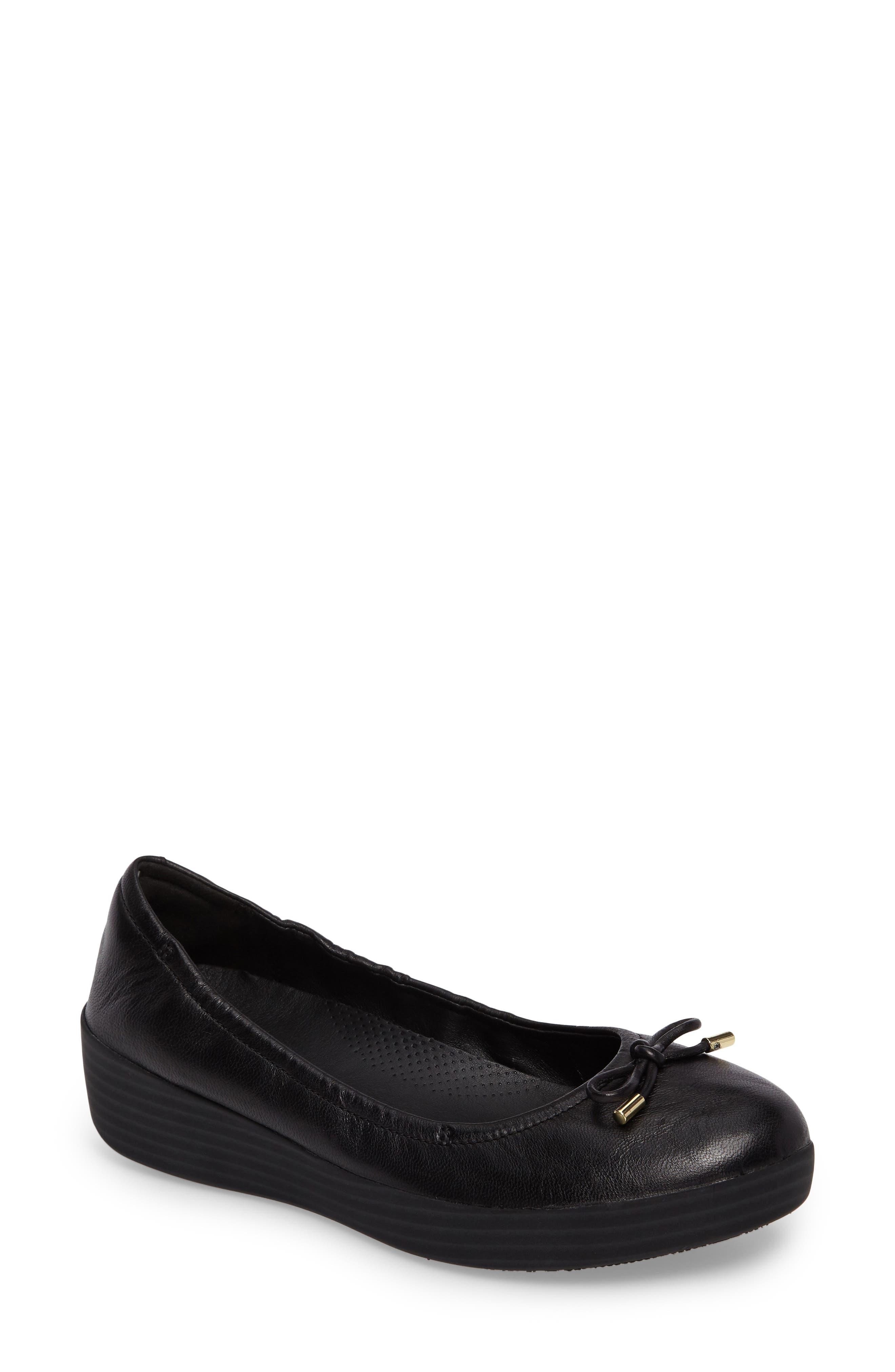 2254b8595c9b Fitflop Superbendy Ballerina Flat In Black Leather
