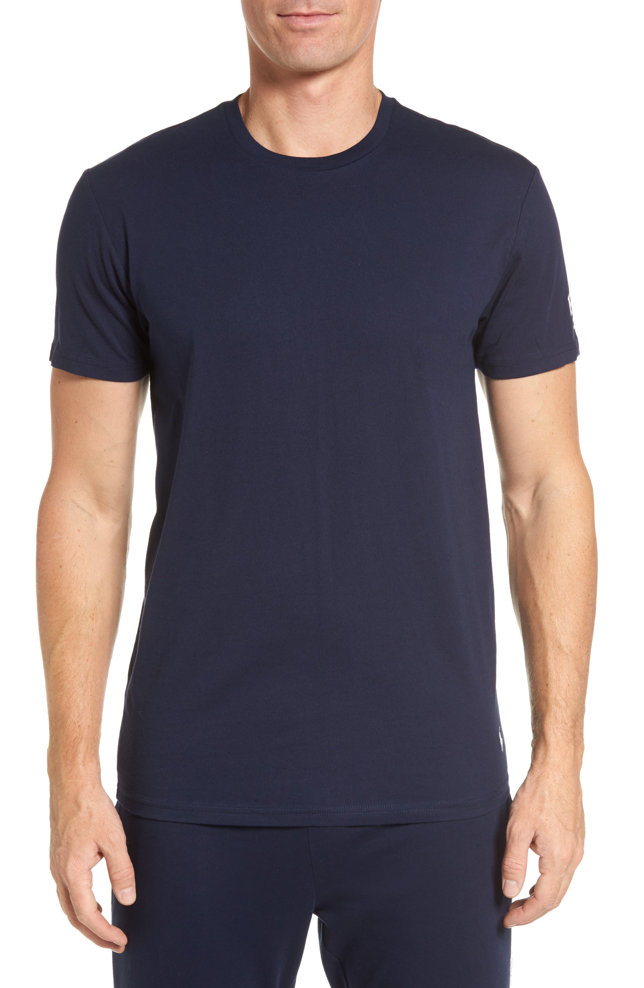 Crewneck T-Shirt,                         Main,                         color, Cruise Navy