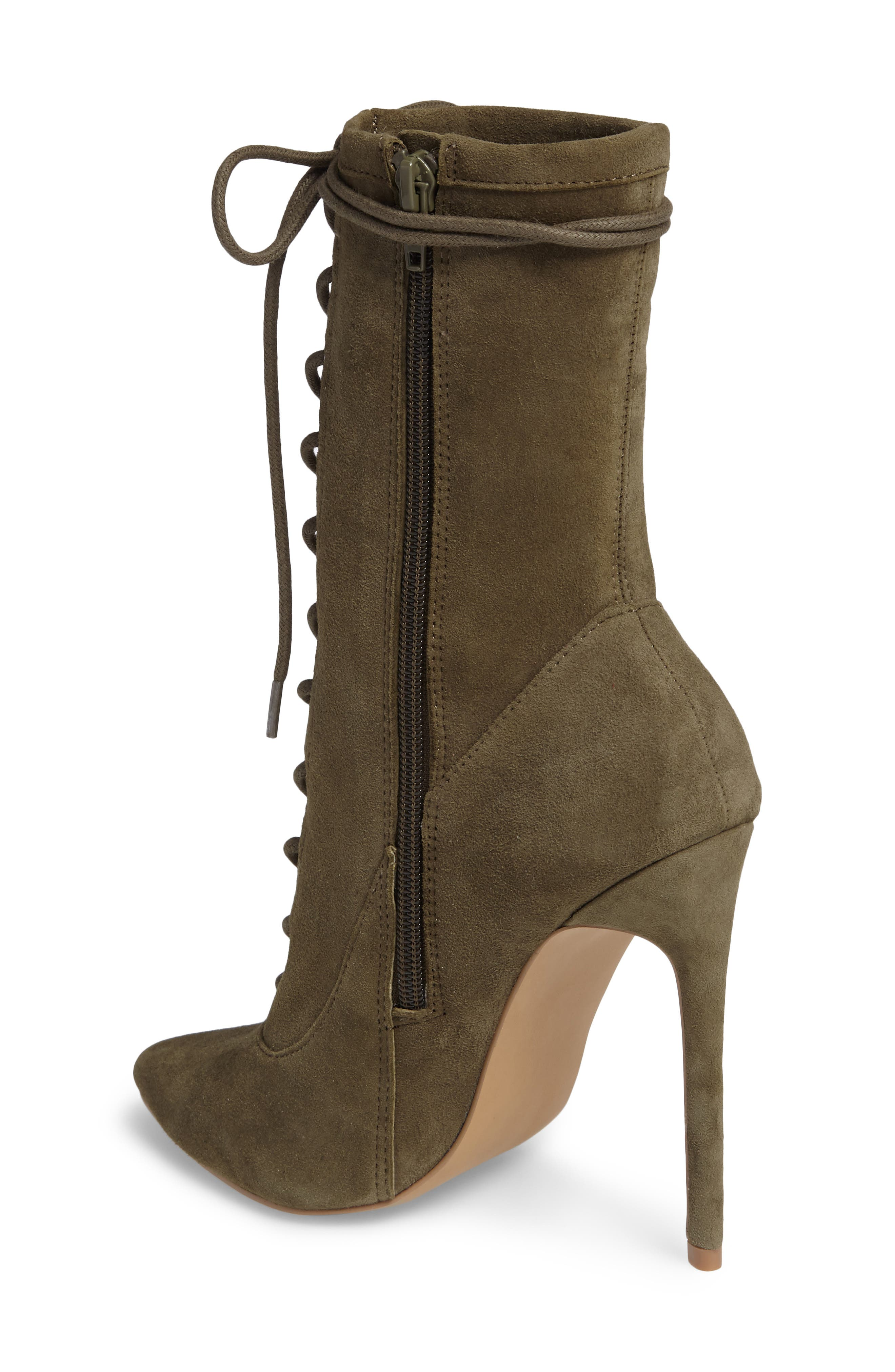 Alternate Image 2  - Steve Madden Satisfied Corset-Lace Bootie (Women)