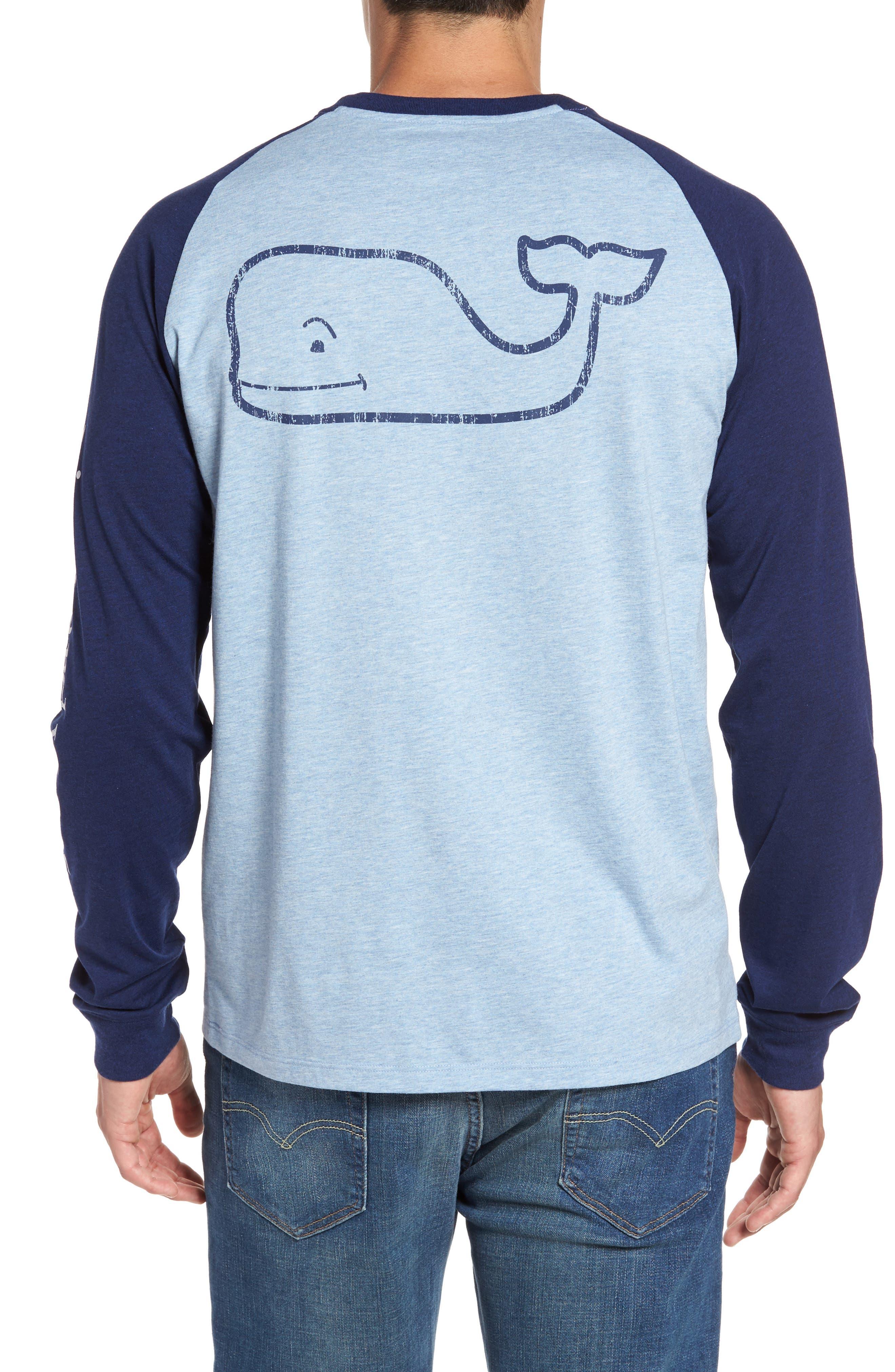 vineyard vines Heathered Raglan Whale Logo T-Shirt