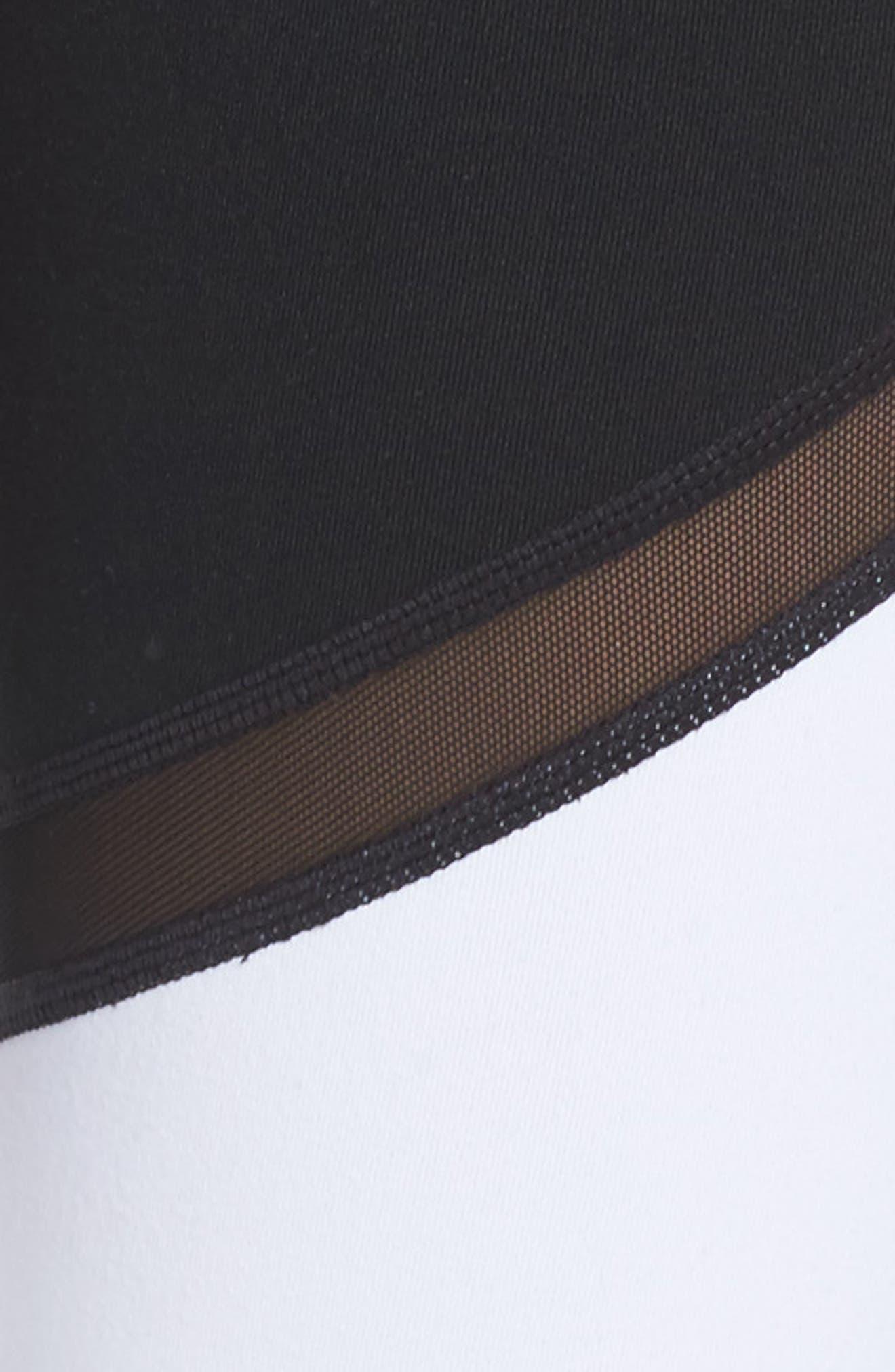 Epic Clean Block Ankle Leggings,                             Alternate thumbnail 7, color,                             Black