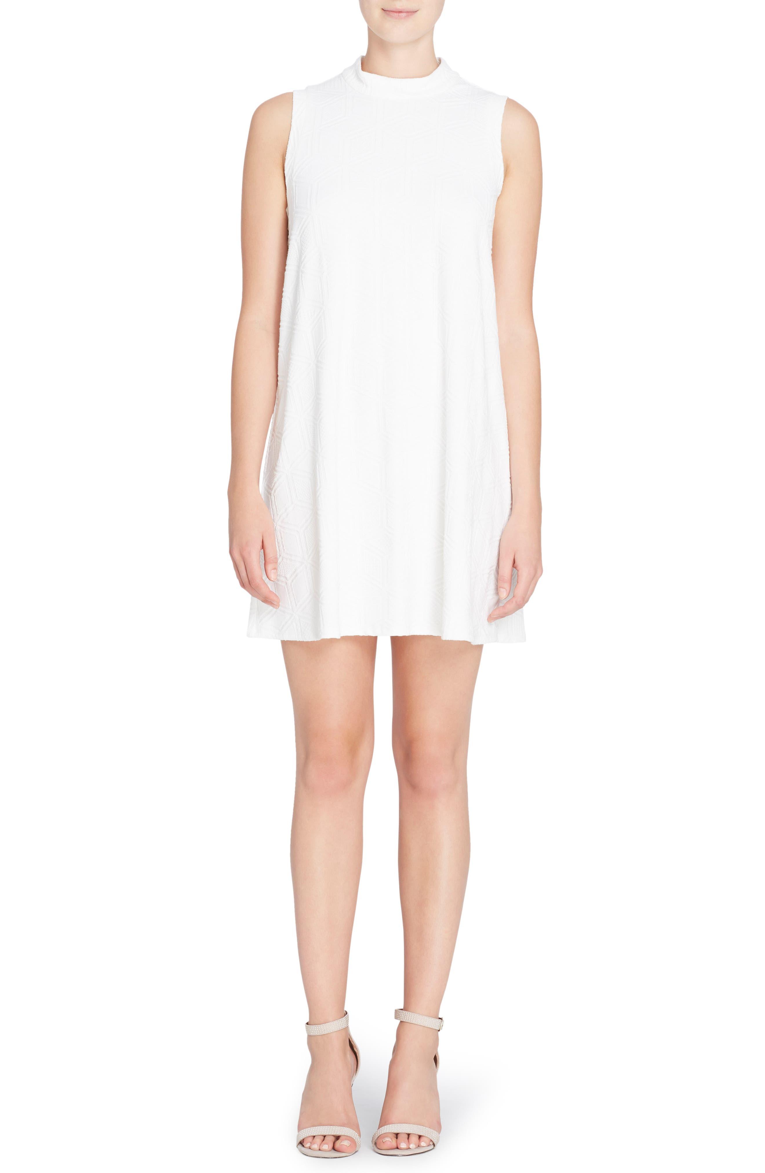 Main Image - Catherine Catherine Malandrino Lonni Geo Textured Dress