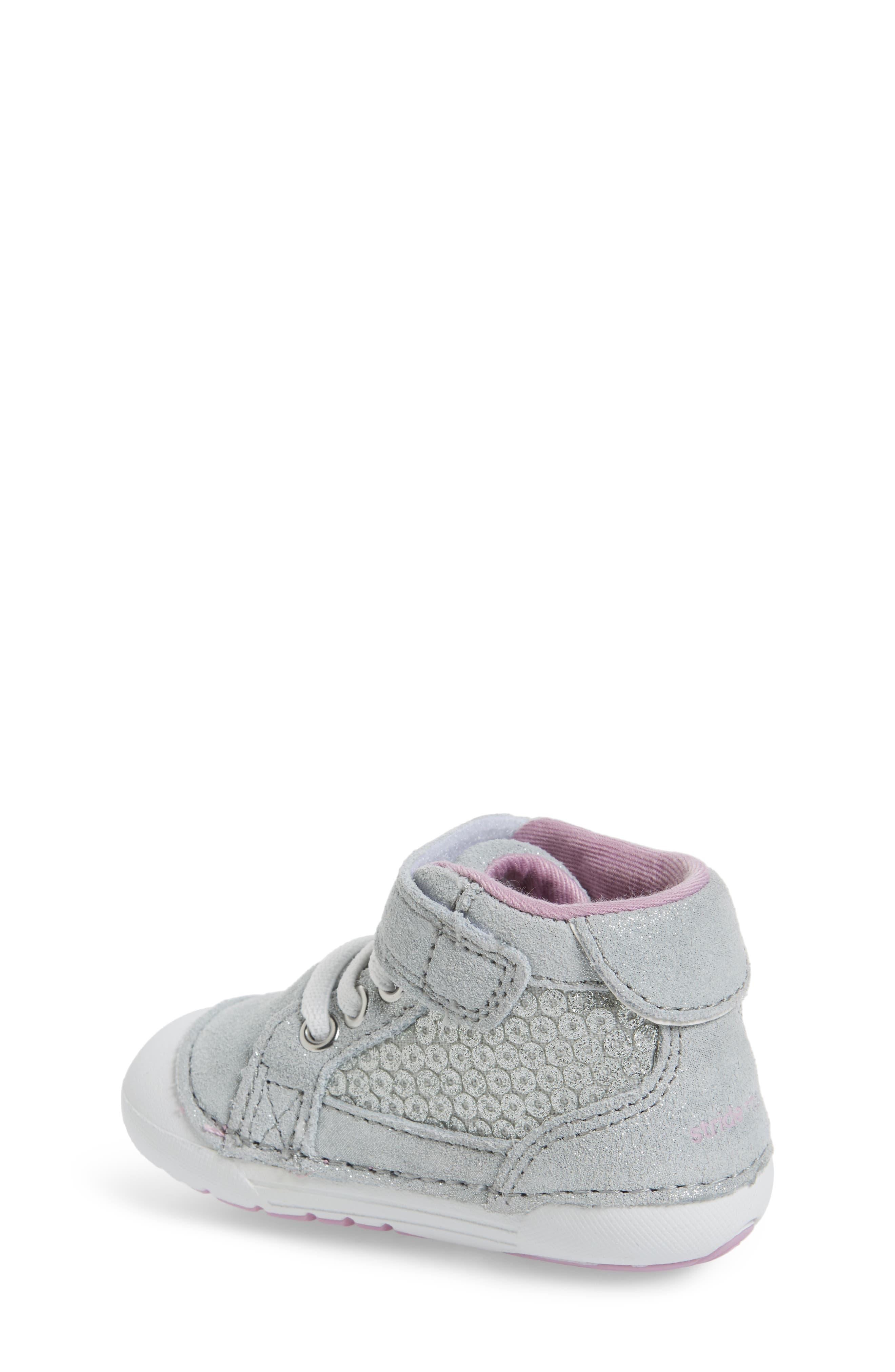 Alternate Image 2  - Stride Rite Soft Motion™ Jada High Top Sneaker (Baby & Walker)