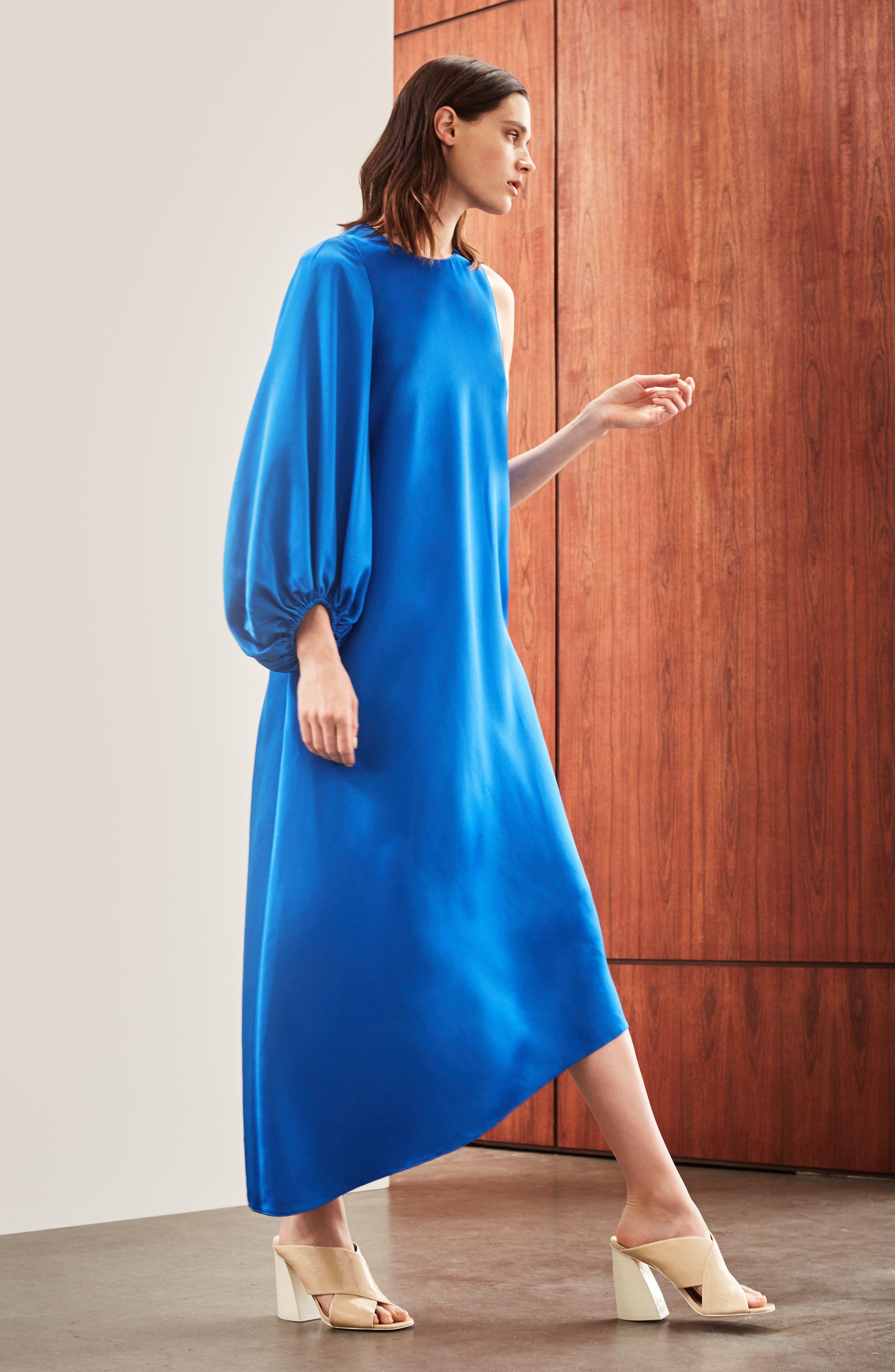 Alternate Image 6  - Tibi Celestia One Sleeve Bias Cut Satin Dress