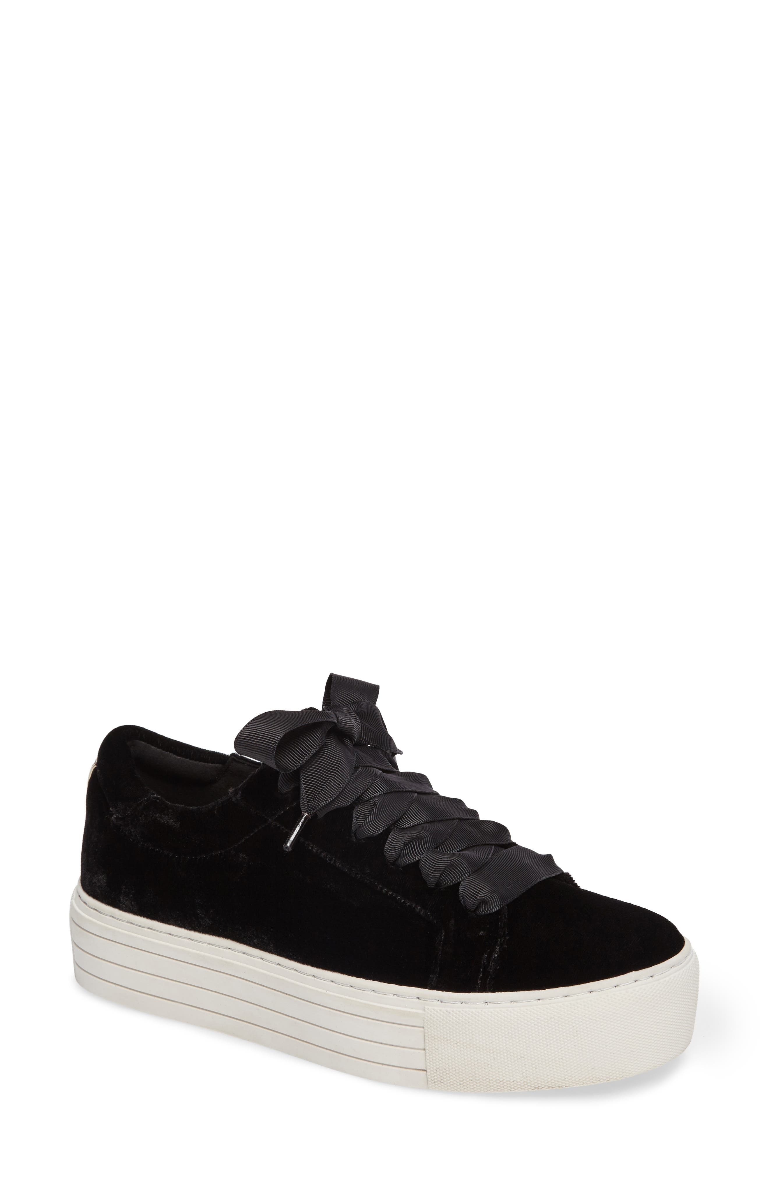 Abbey Platform Sneaker,                         Main,                         color, Black Velvet