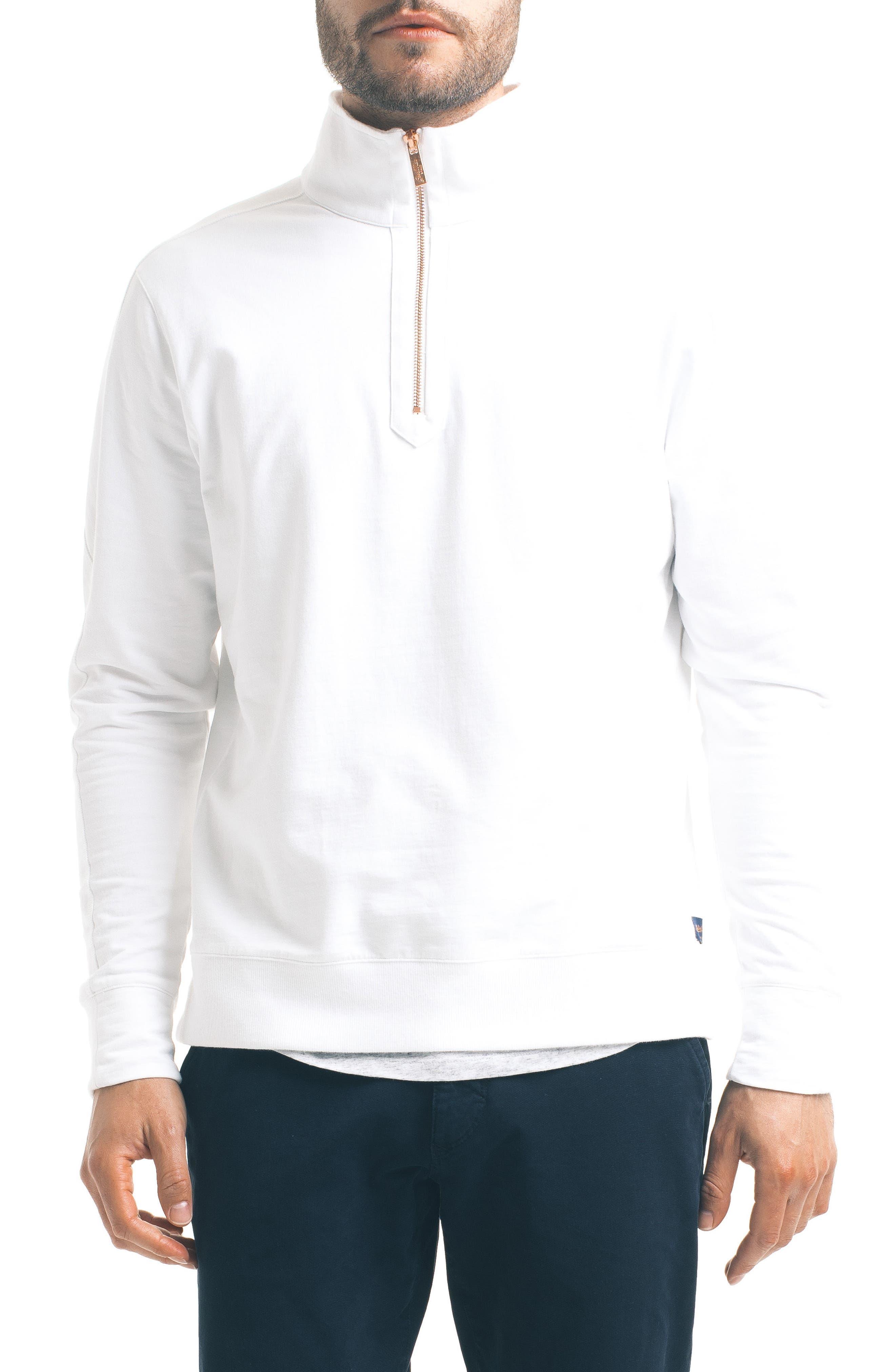 Slim Pro Quarter Zip Pullover,                             Main thumbnail 1, color,                             White
