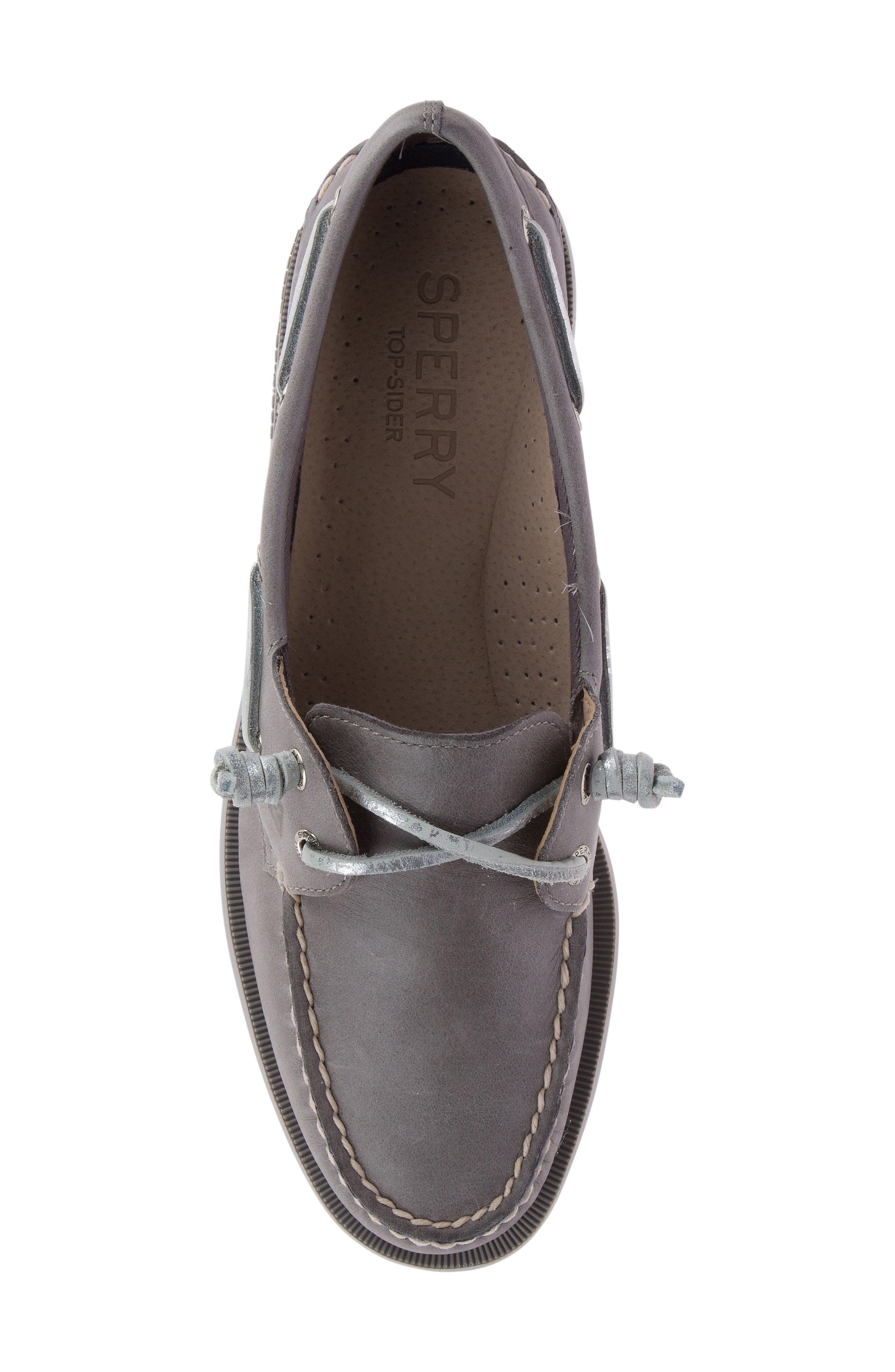 Vida Boat Shoe,                             Alternate thumbnail 4, color,                             Driftwood Leather