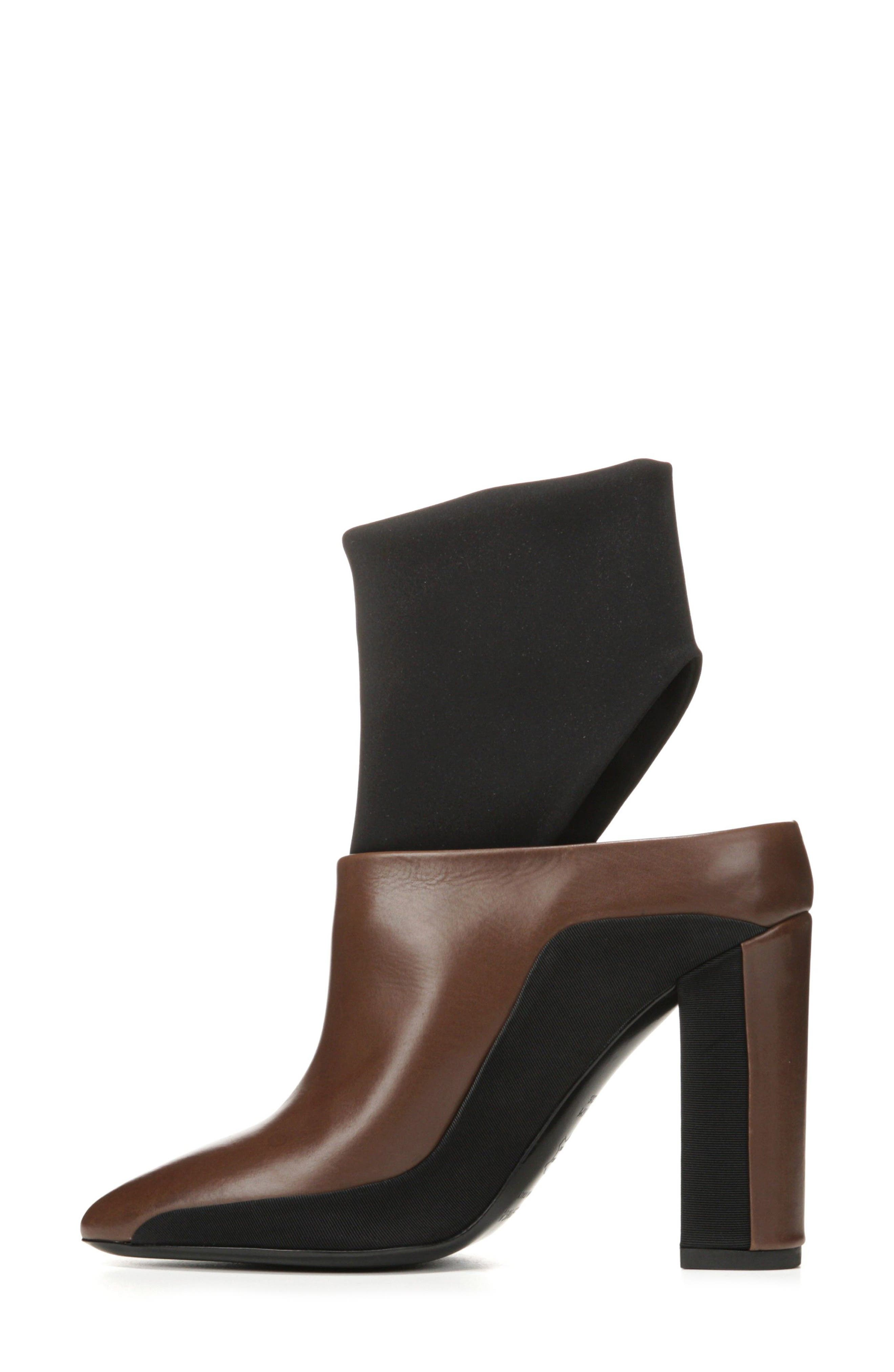 Agyness Cutout Boot,                             Alternate thumbnail 3, color,                             Bark Leather