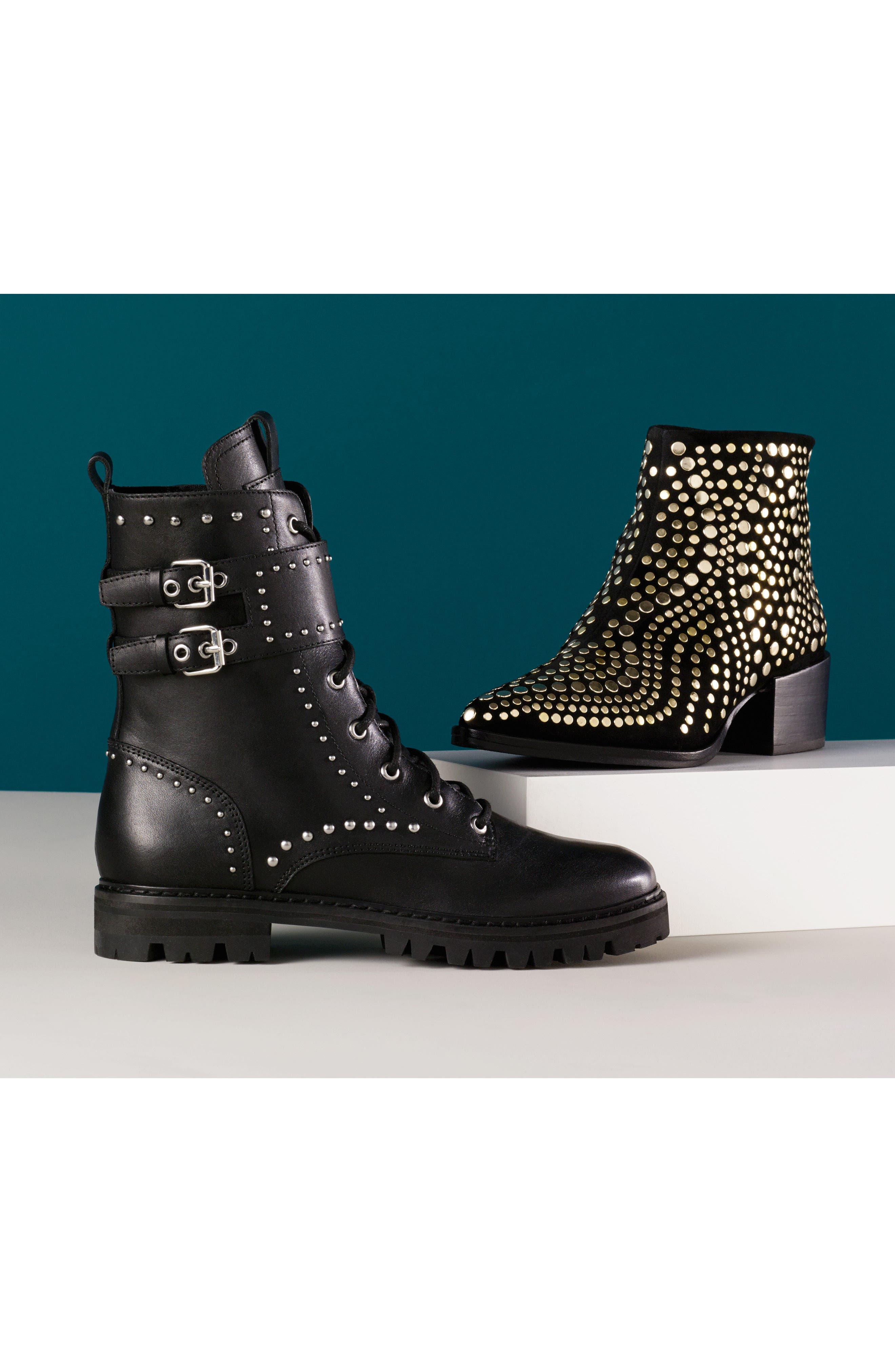Edenny Studded Pointy Toe Bootie,                             Alternate thumbnail 2, color,