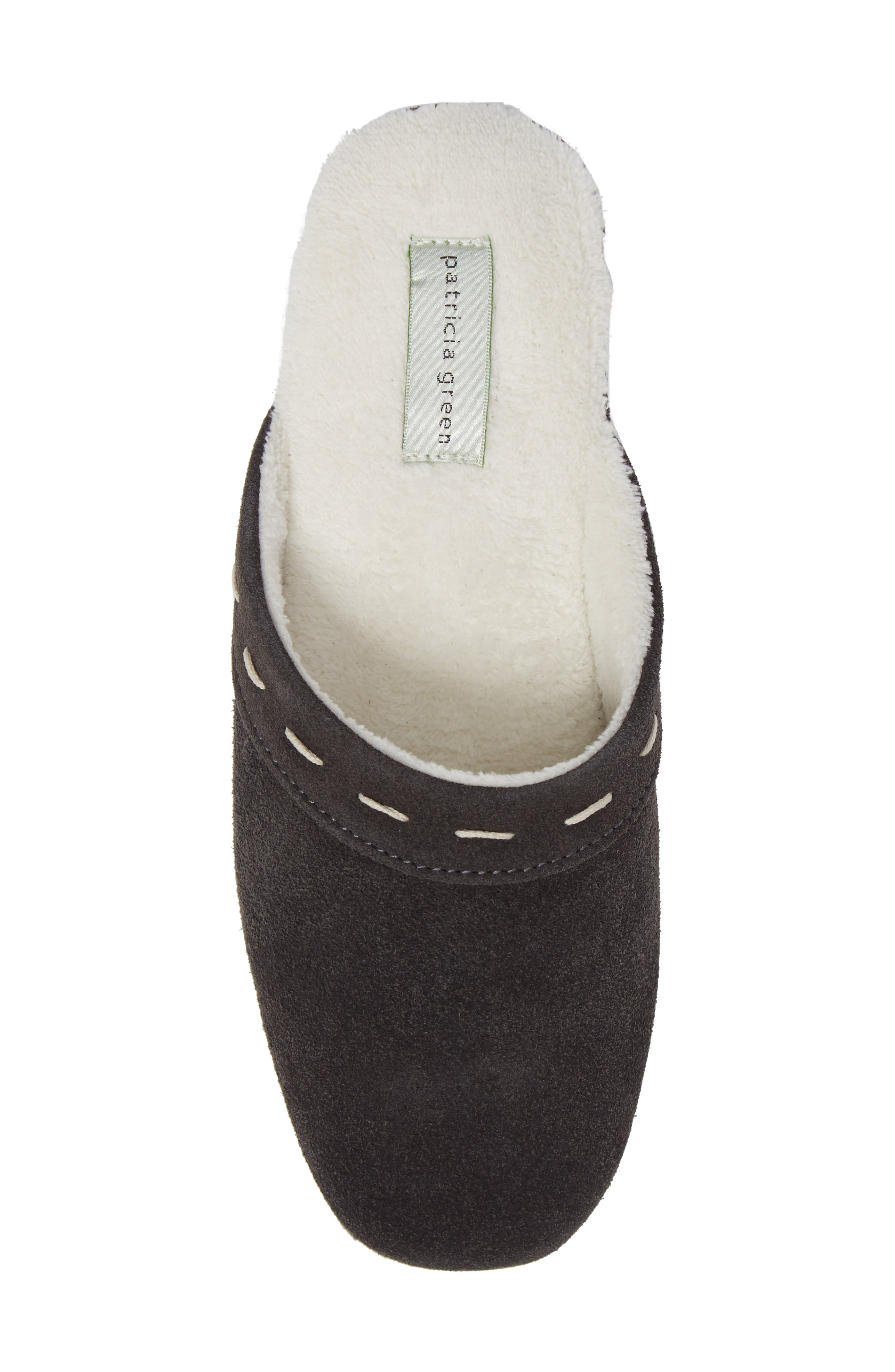 Mayfair Wedge Slipper,                             Alternate thumbnail 4, color,                             Charcoal Suede