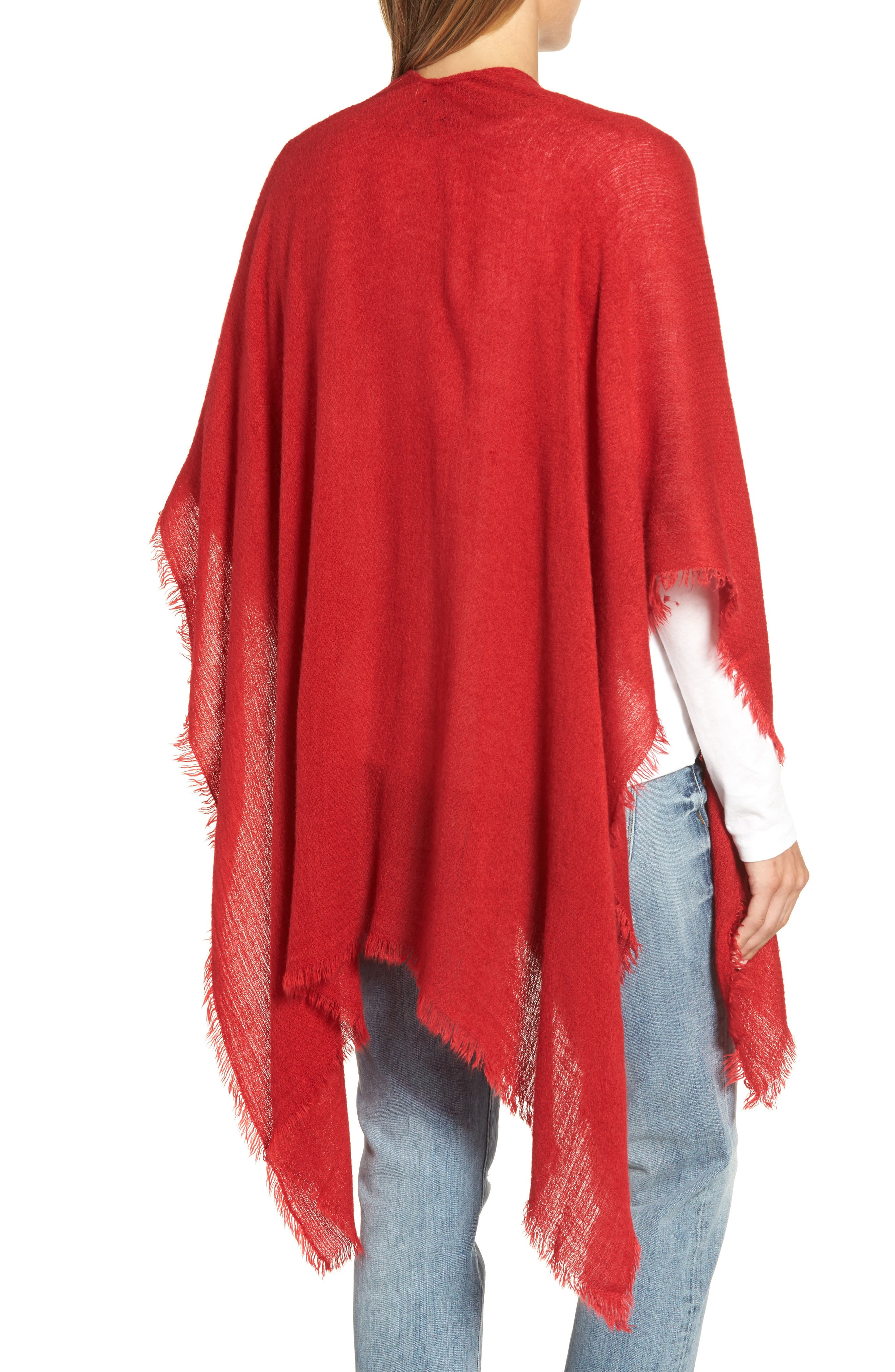 Alternate Image 2  - Echo Fringe Trim Cape