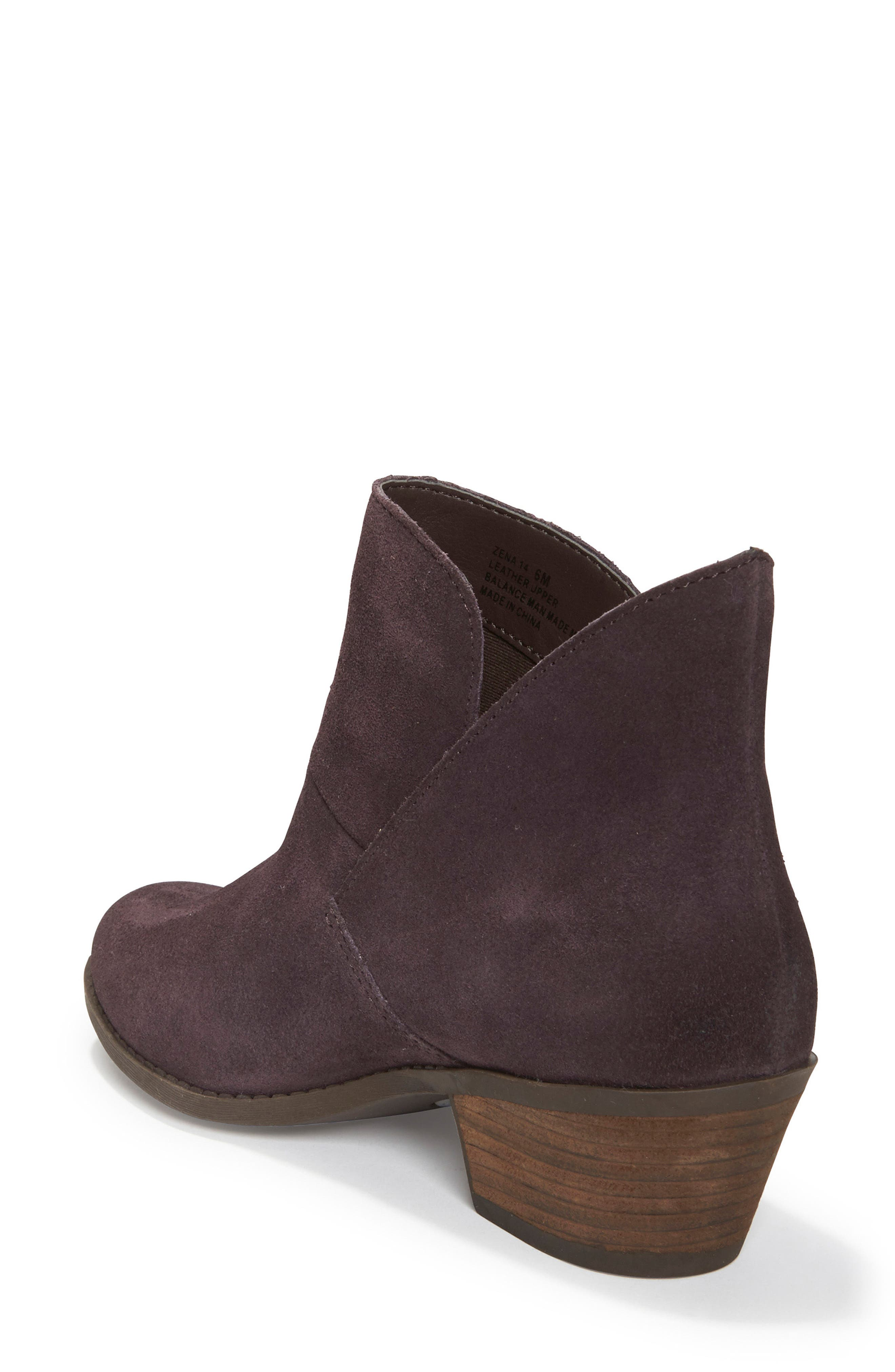 Zena Ankle Boot,                             Alternate thumbnail 2, color,                             Dark Ruby Suede
