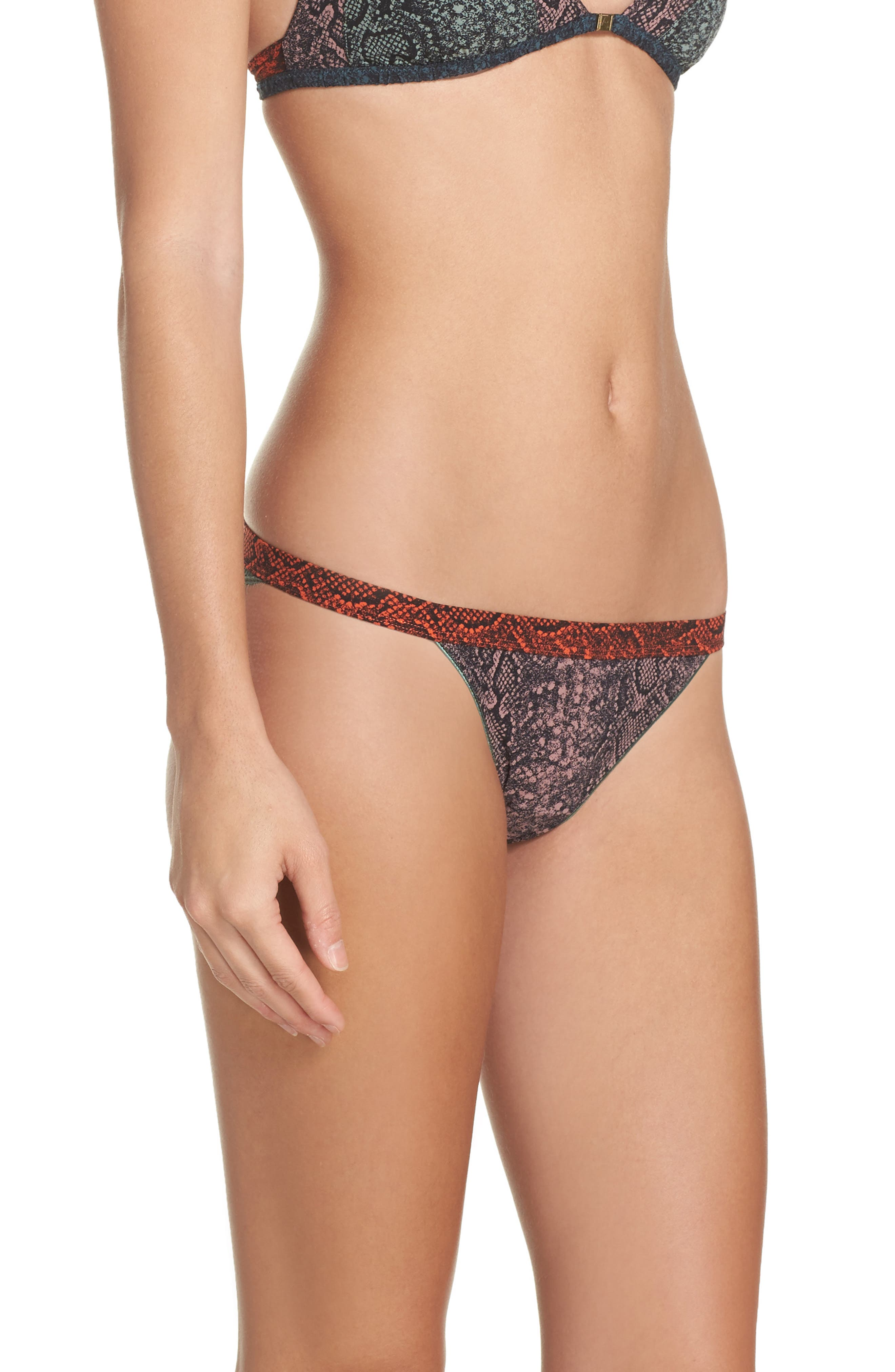 Wild Rose Lace Bikini,                             Alternate thumbnail 3, color,                             Snake Grape Shake
