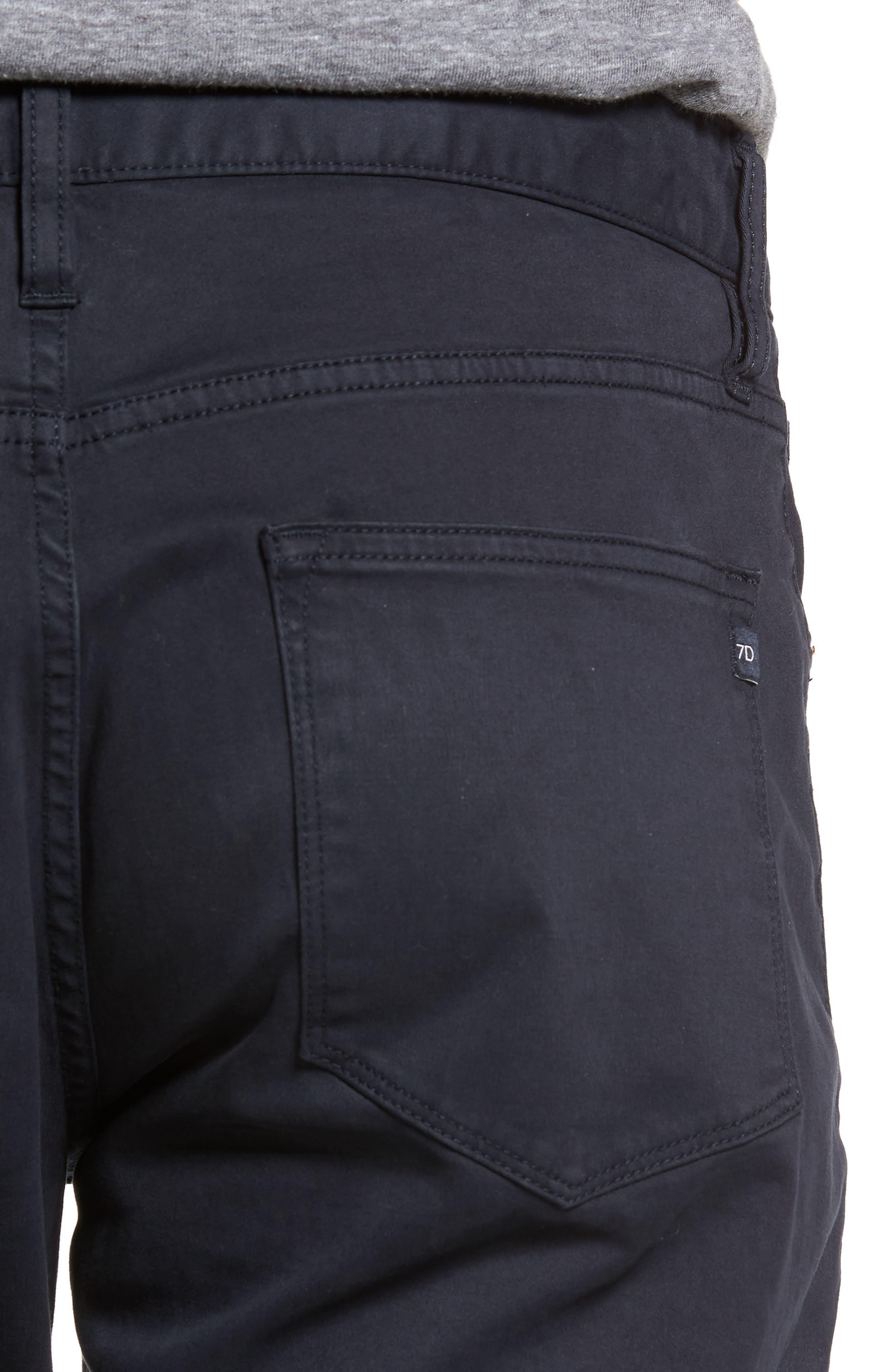Brushed Twill Five-Pocket Pants,                             Alternate thumbnail 4, color,                             Navy