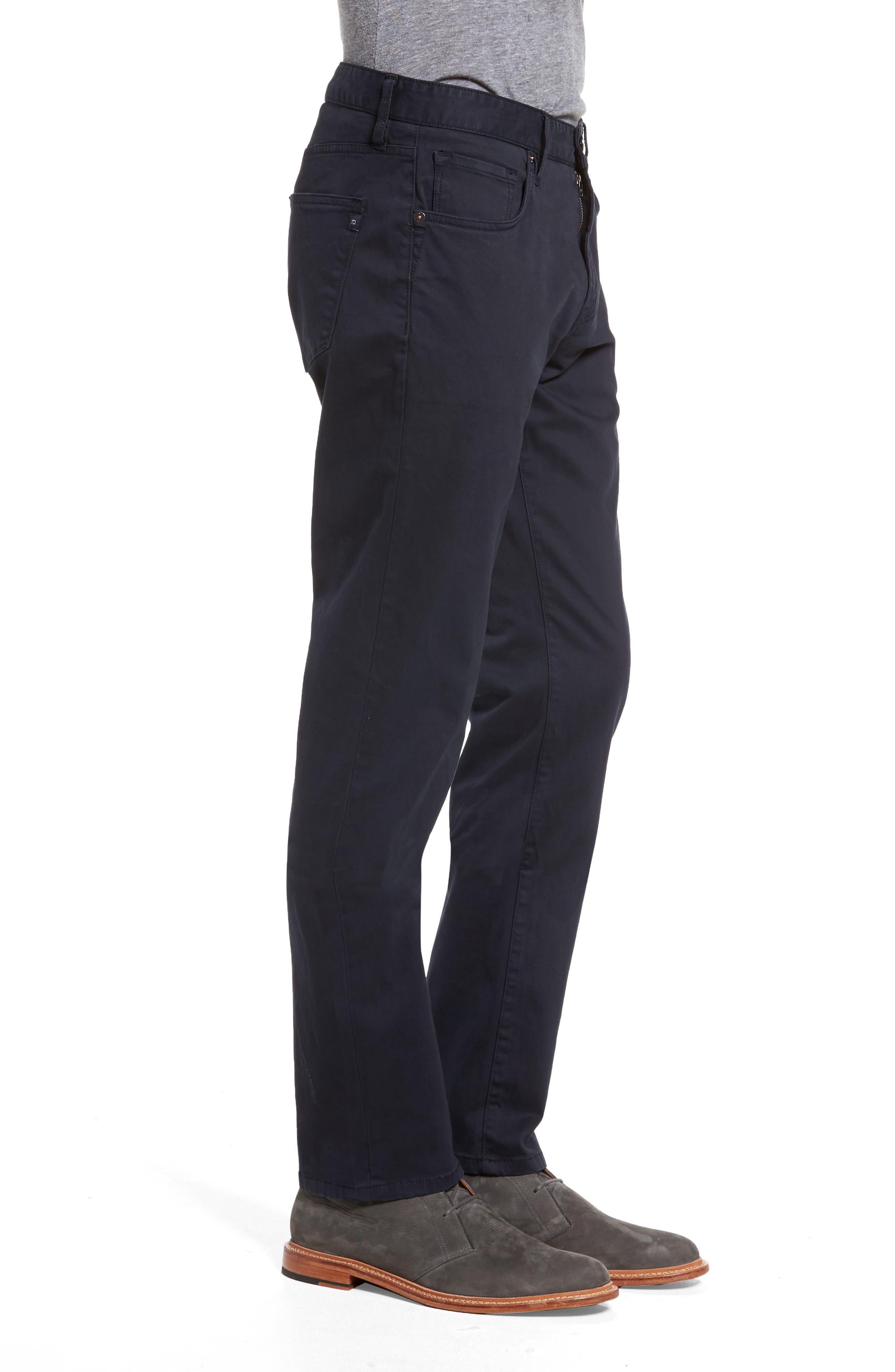 Brushed Twill Five-Pocket Pants,                             Alternate thumbnail 3, color,                             Navy