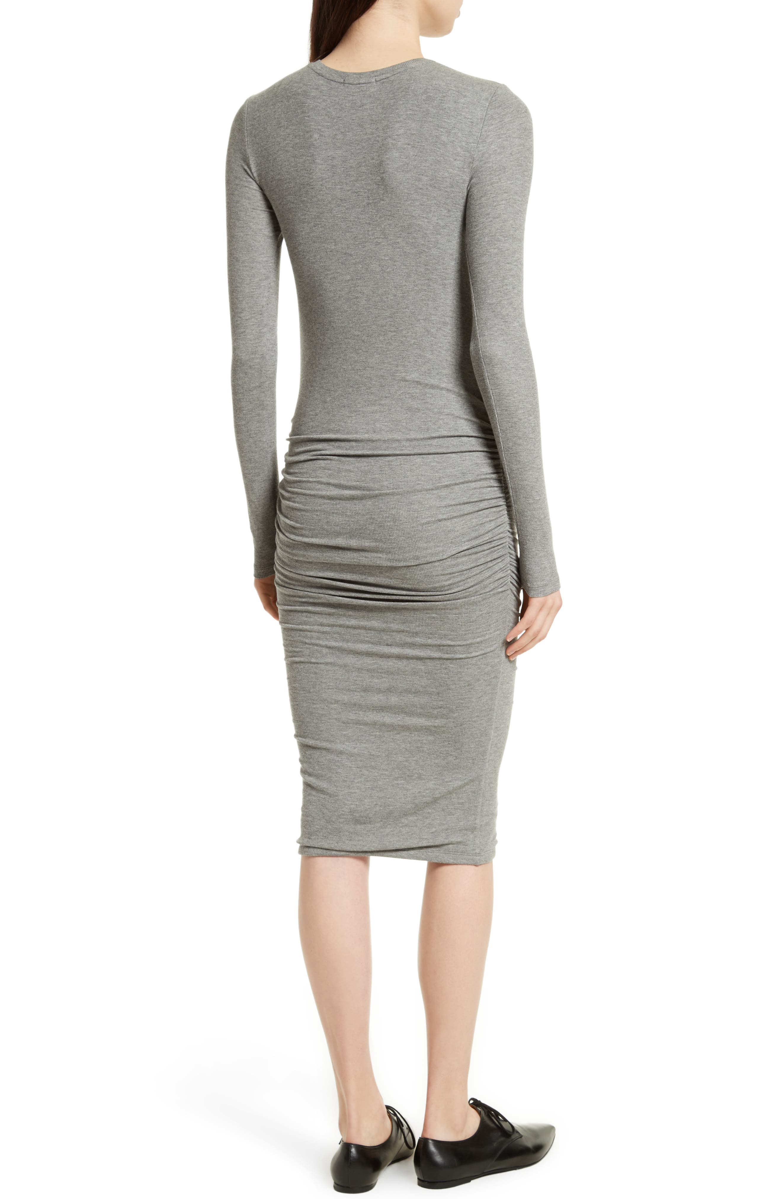 Alternate Image 2  - ATM Anthony Thomas Melillo Ribbed Stretch Jersey Dress
