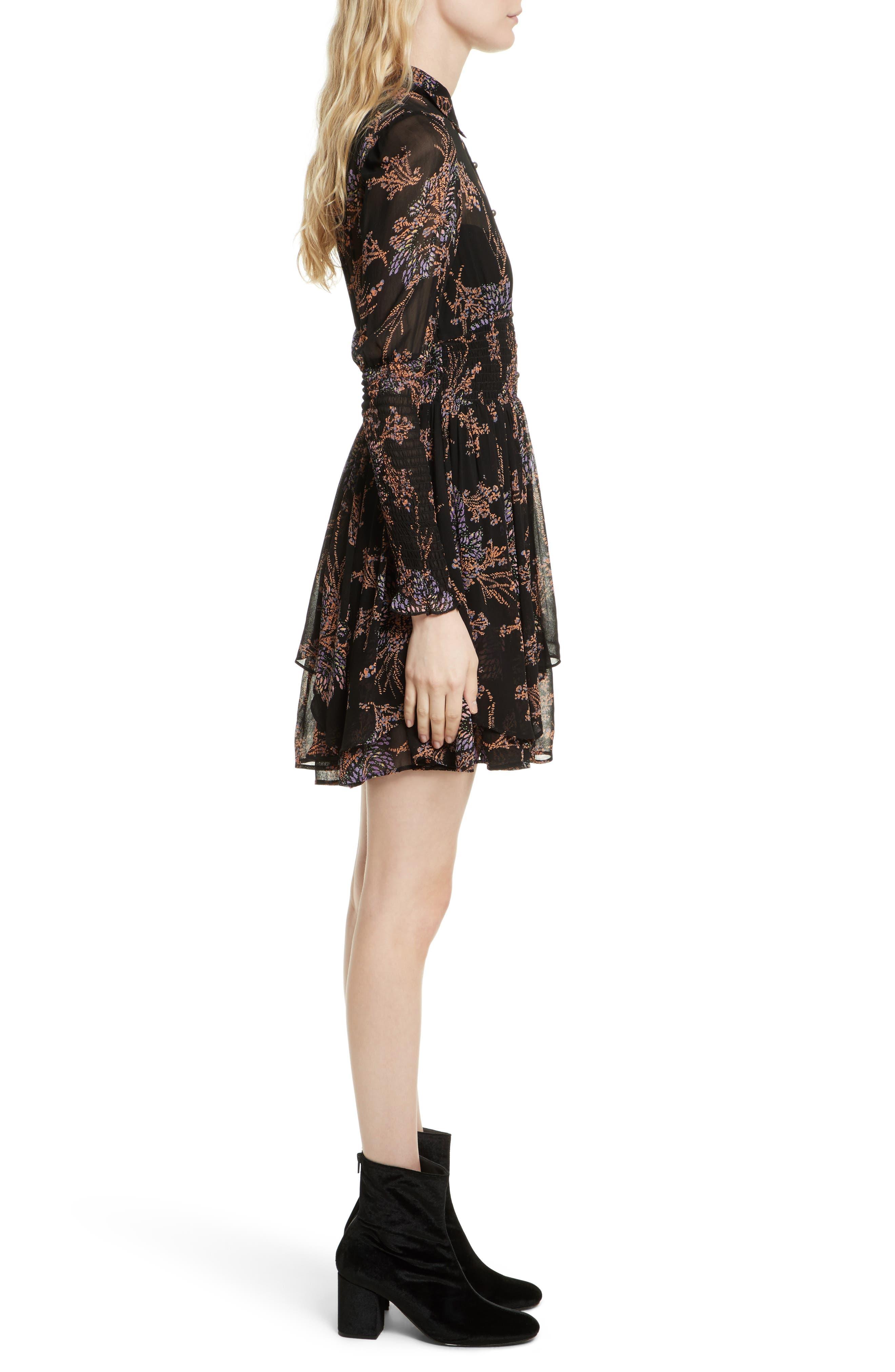 Fake Pretend Babydoll Dress,                             Alternate thumbnail 4, color,                             Black Combo