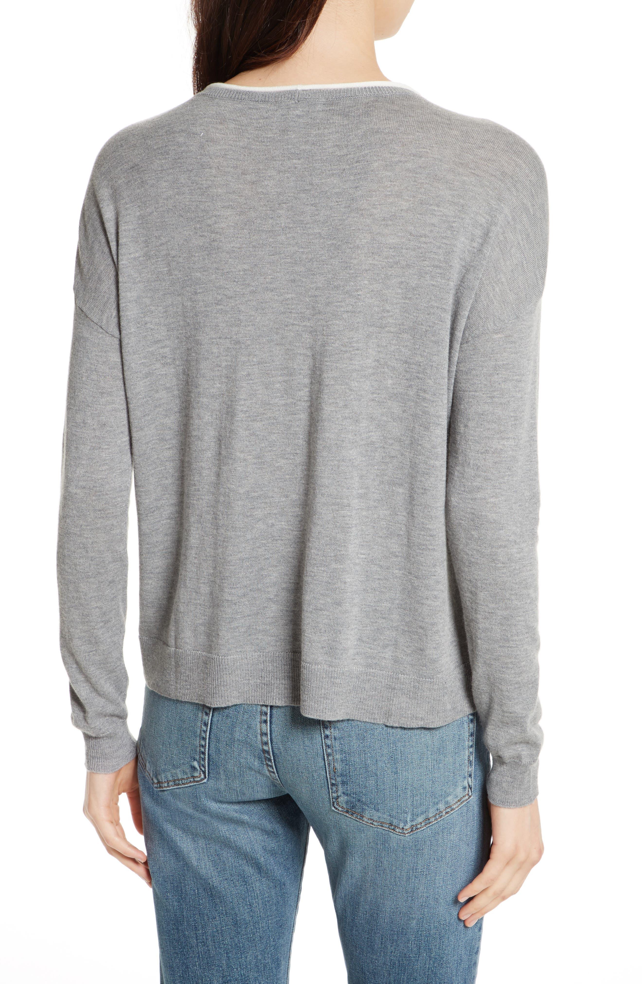 Alternate Image 2  - Joie Eloisa B Embroidered Sweater