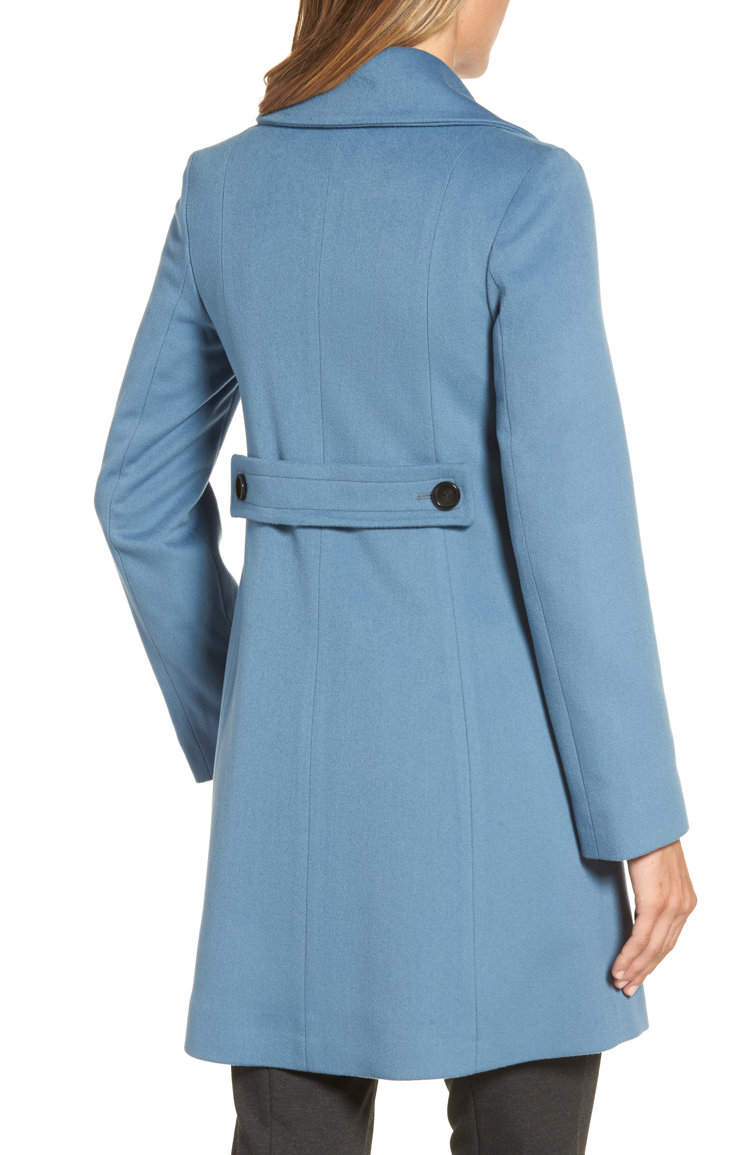 Double Breasted Loro Piana Wool Coat,                             Alternate thumbnail 2, color,                             Cornflower