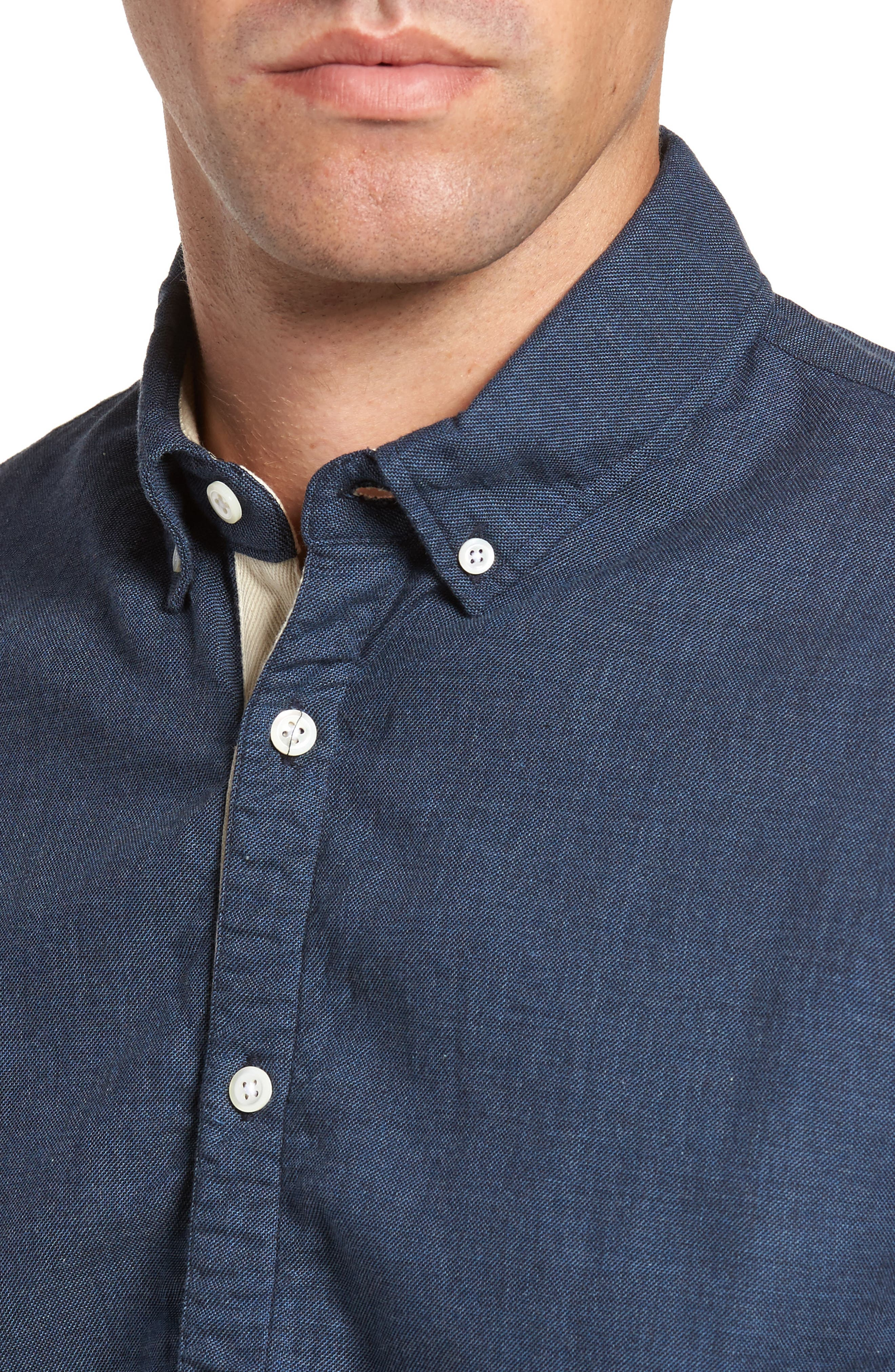 Standard Fit Irvine Sport Shirt,                             Alternate thumbnail 4, color,                             Navy
