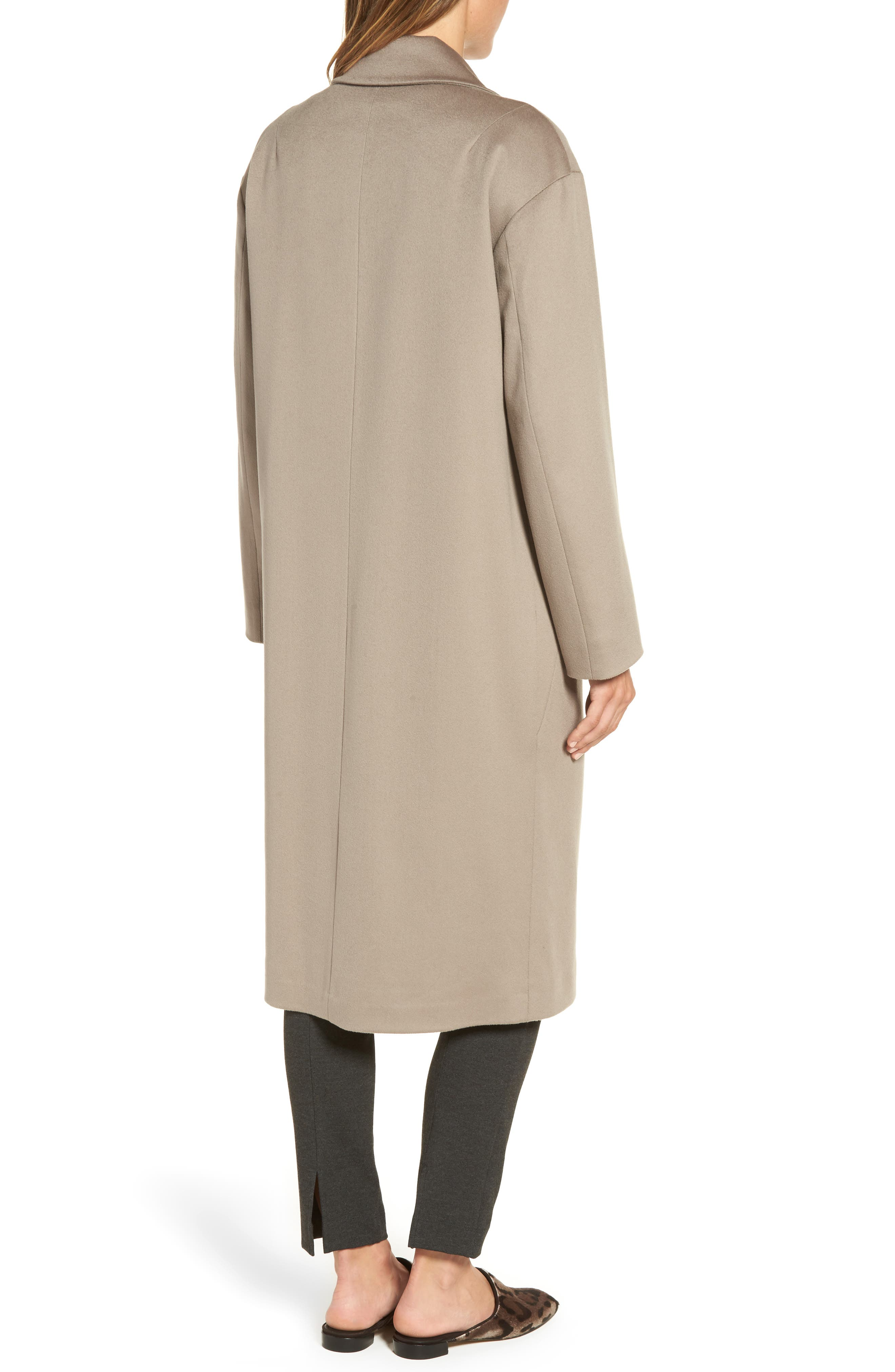 45 Loro Piana Wool Coat,                             Alternate thumbnail 2, color,                             Taupe