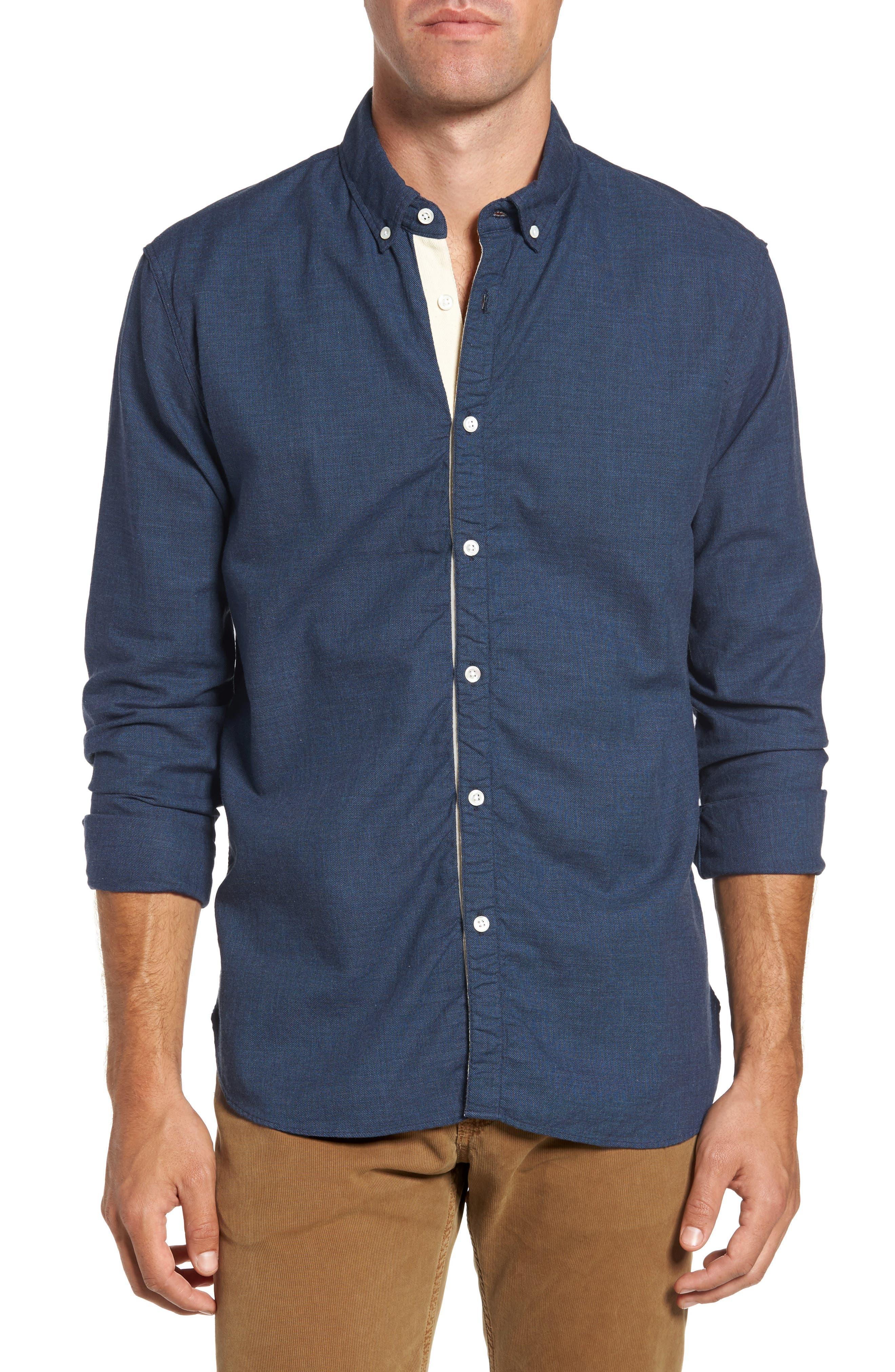 Standard Fit Irvine Sport Shirt,                             Main thumbnail 1, color,                             Navy