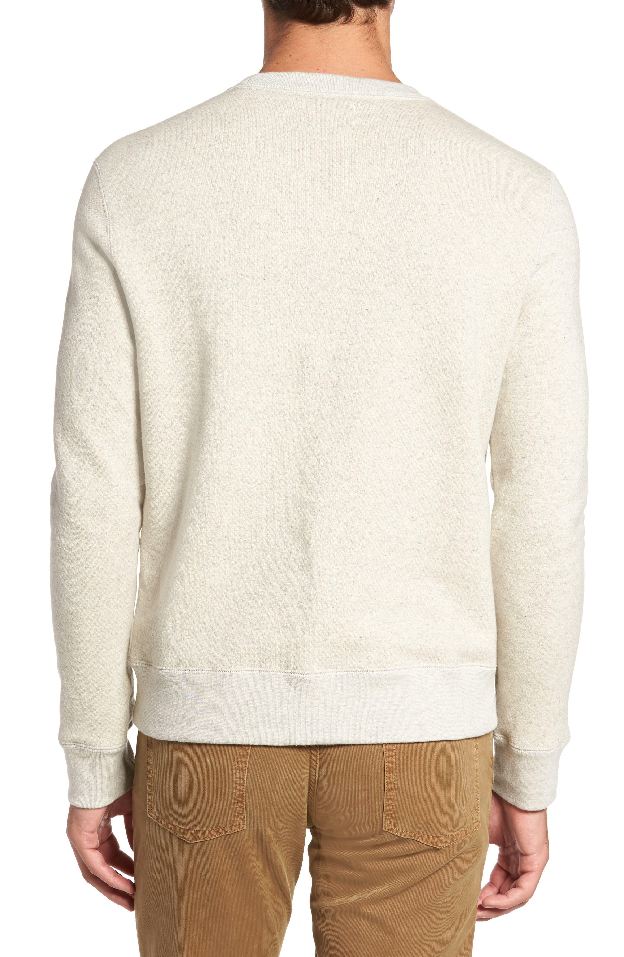 Alternate Image 2  - Billy Reid Cotton Fleece Sweatshirt