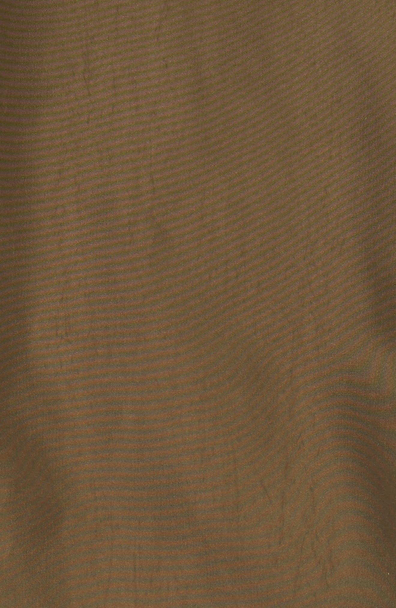 Faux Fur Trim Parka,                             Alternate thumbnail 5, color,                             Dark Olive