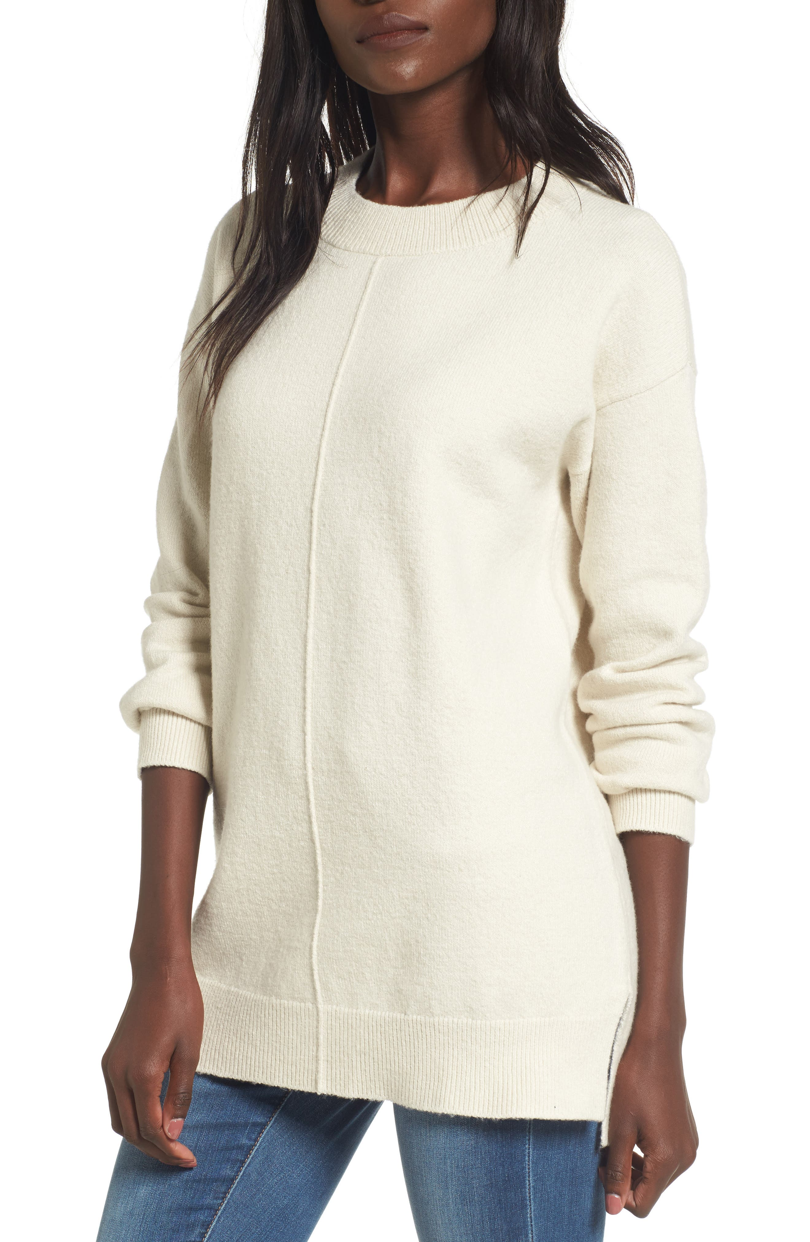 BP. Seam Front Tunic Sweater