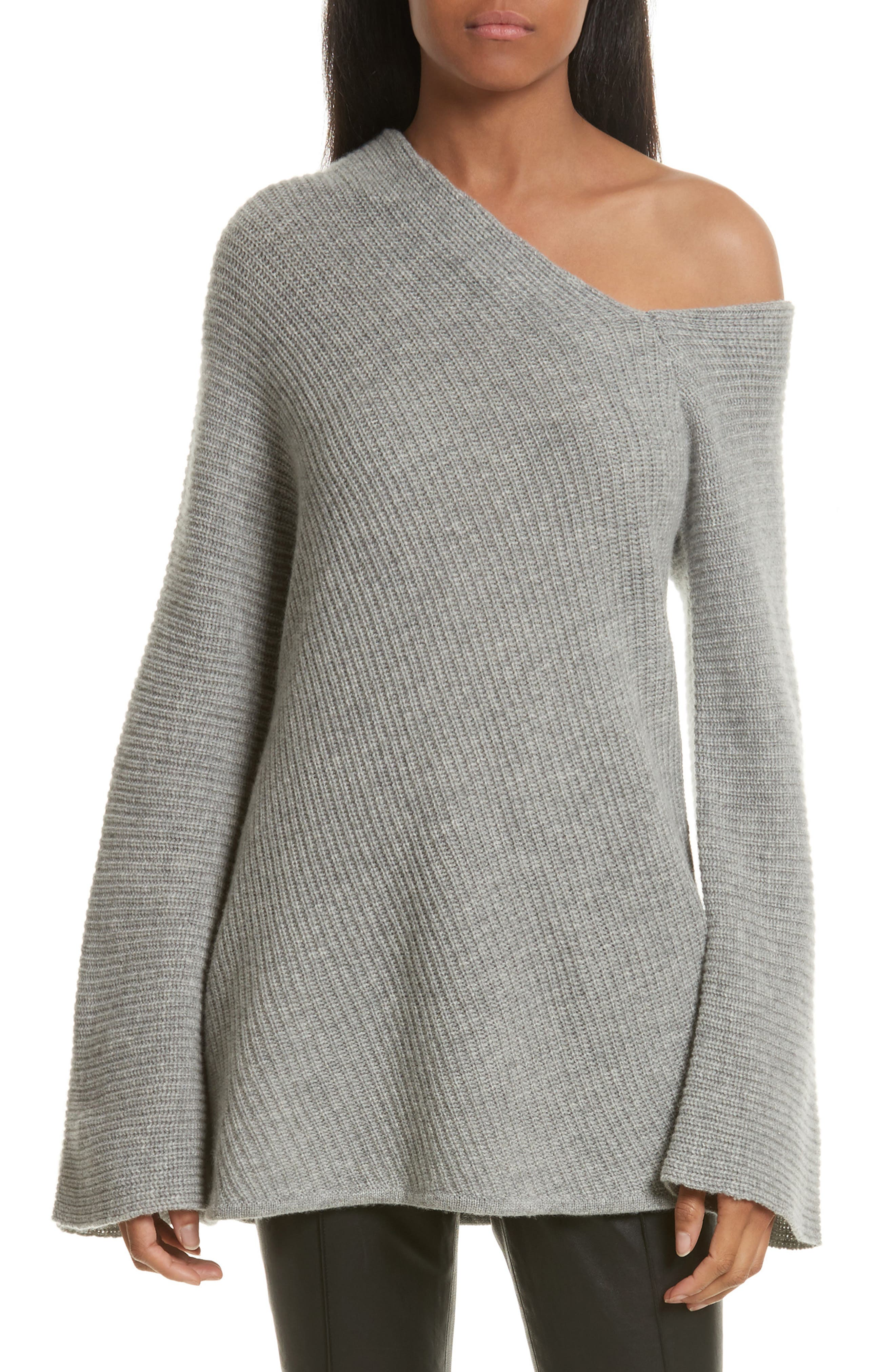 Main Image - A.L.C. Charly Wool & Cashmere One-Shoulder Sweater