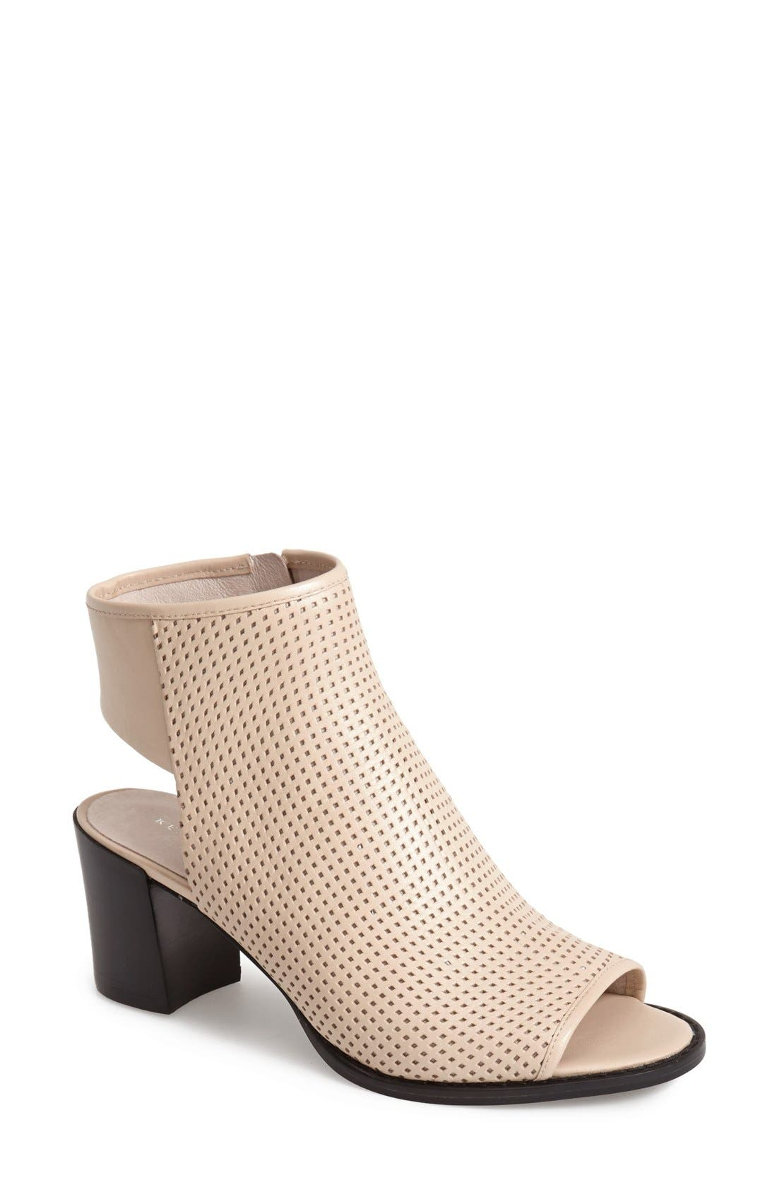 Alternate Image 1 Selected - Kenneth Cole New York 'Shay' Open Toe Perforated Leather Bootie (Women)