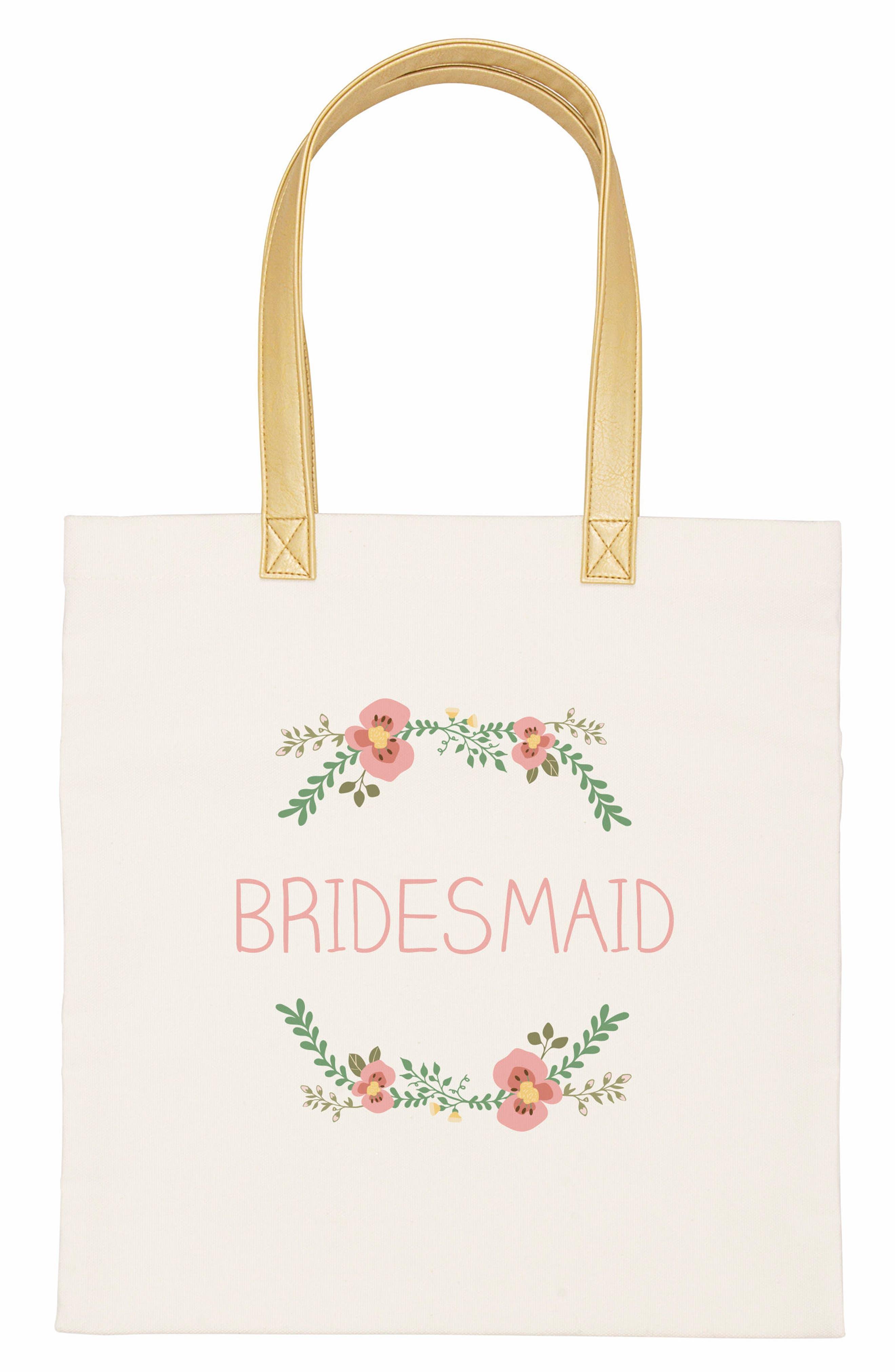 CATHYS CONCEPTS Bridesmaid Canvas Tote