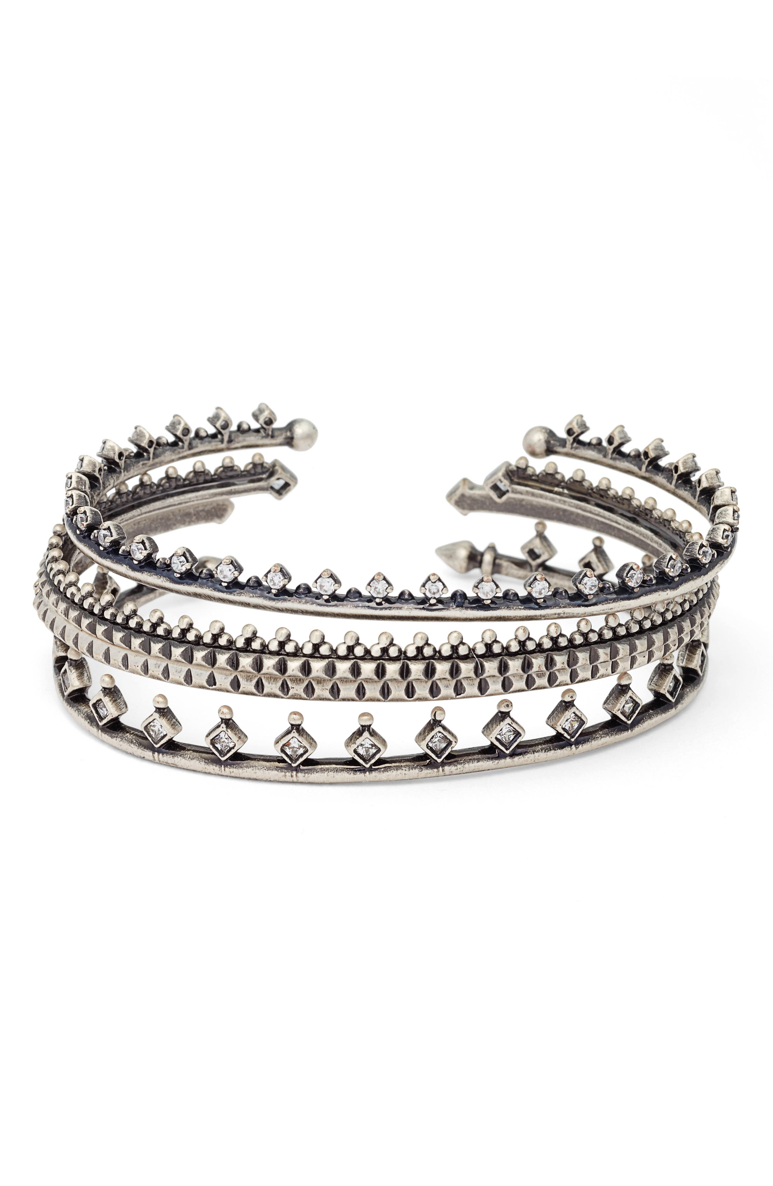 Alternate Image 1 Selected - Kendra Scott Delphine Set of 4 Stackable Cuffs