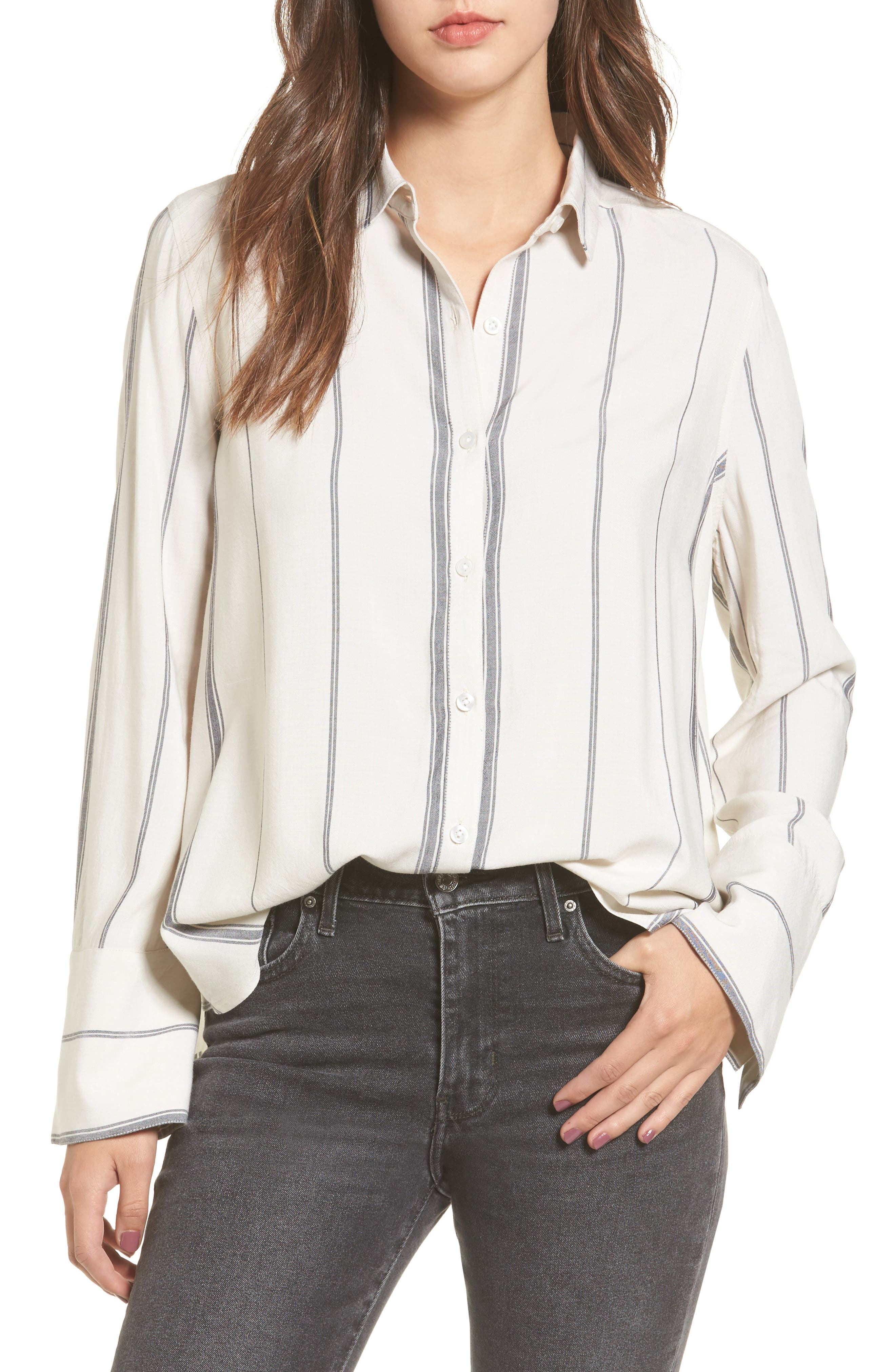 BP. Print Long Cuff Shirt