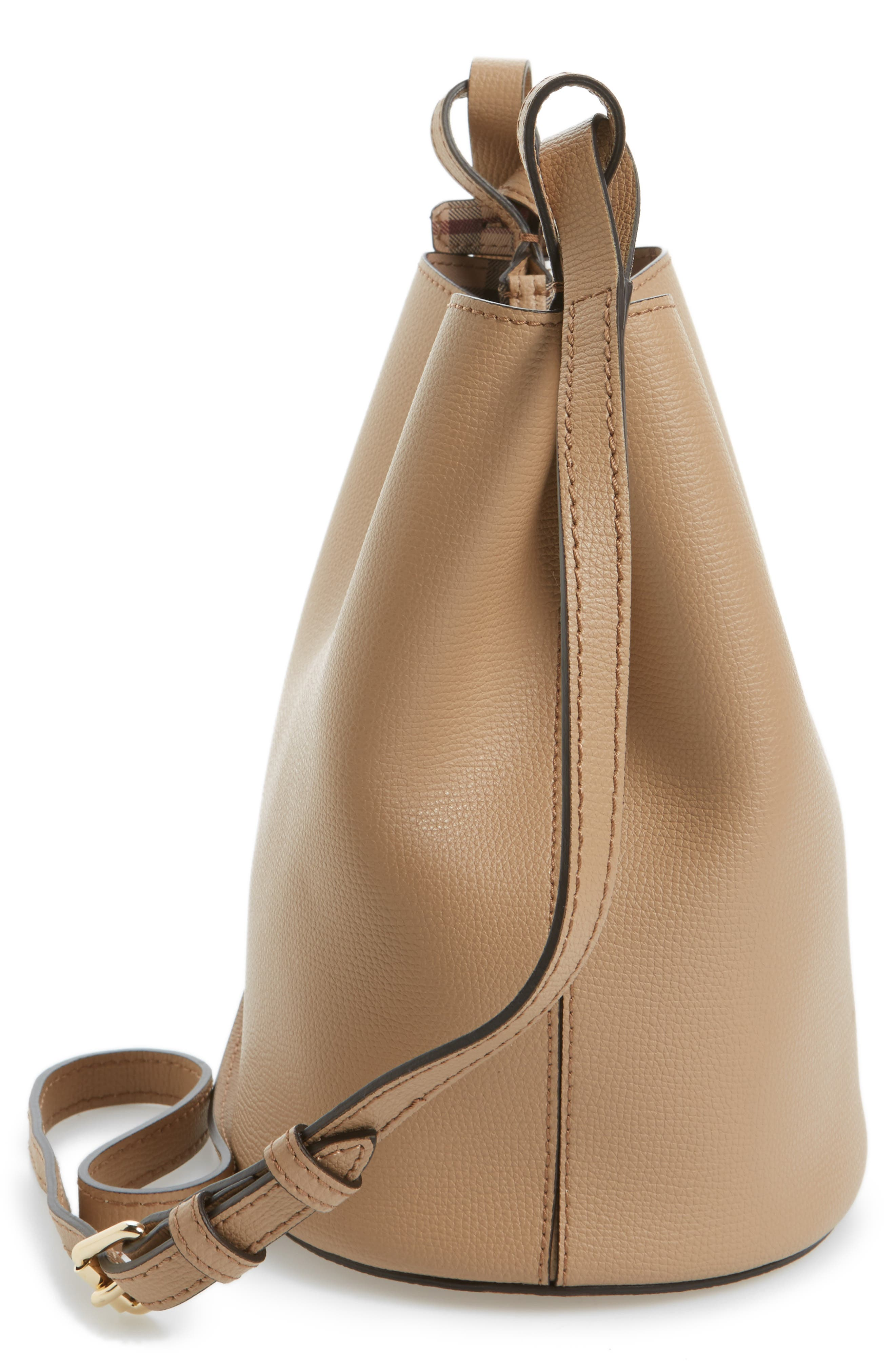 Alternate Image 4  - Burberry Small Lorne Leather Bucket Bag