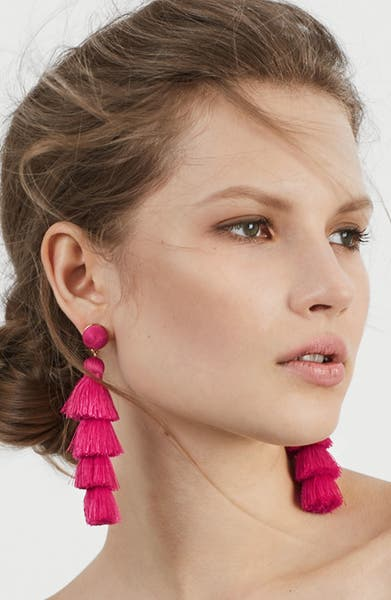 Main Image - BaubleBar Antonella Tassel Fringe Earrings