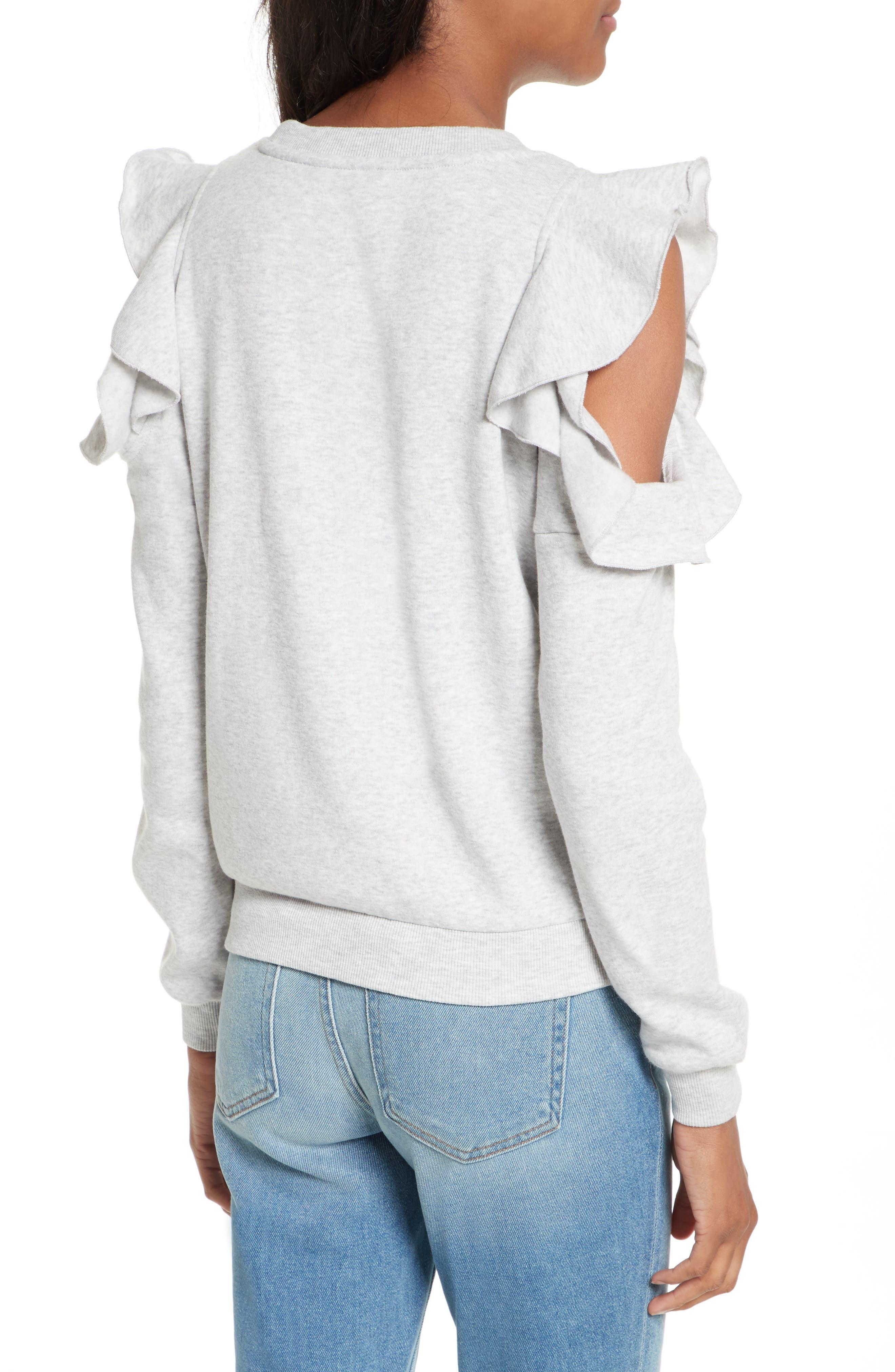 Alternate Image 3  - Rebecca Minkoff Gracie Cold Shoulder Sweatshirt