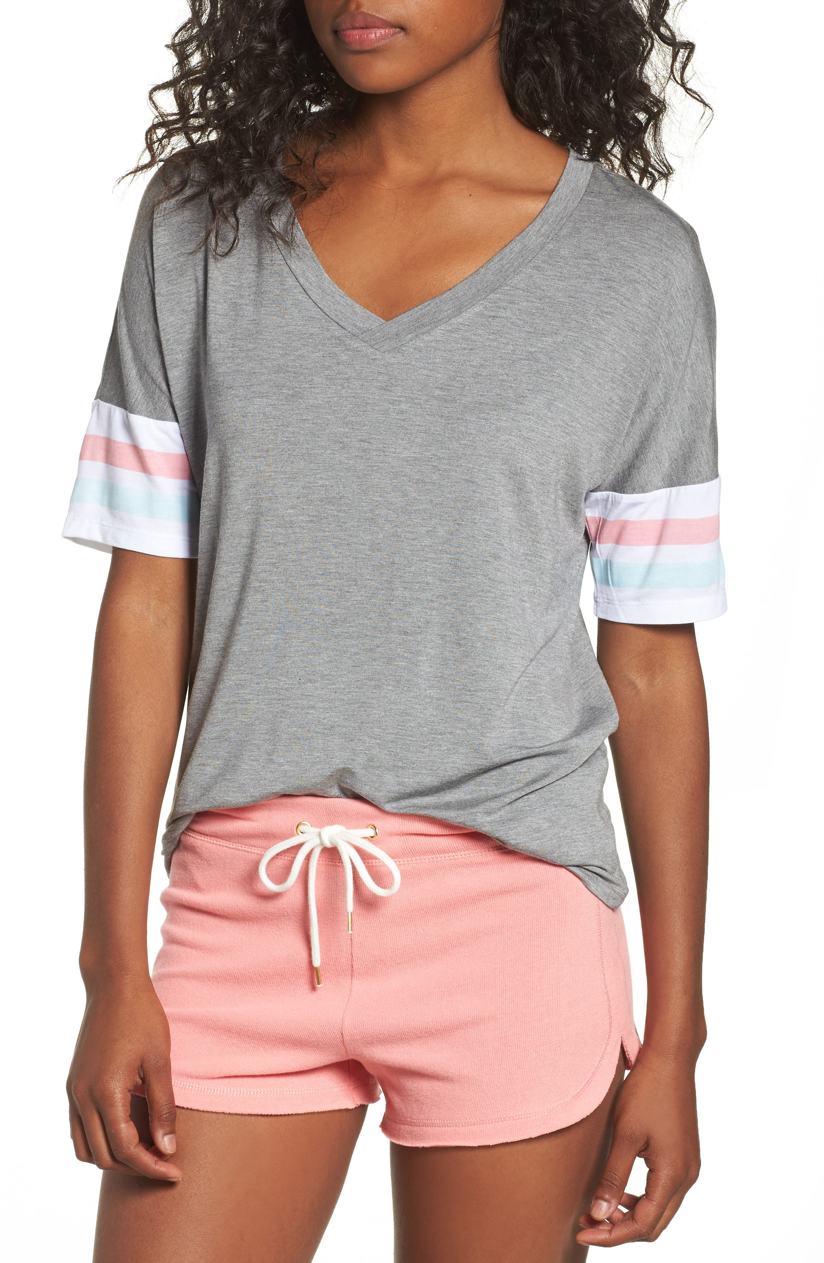 Relaxin' Lounge Tee,                         Main,                         color, Heather Grey