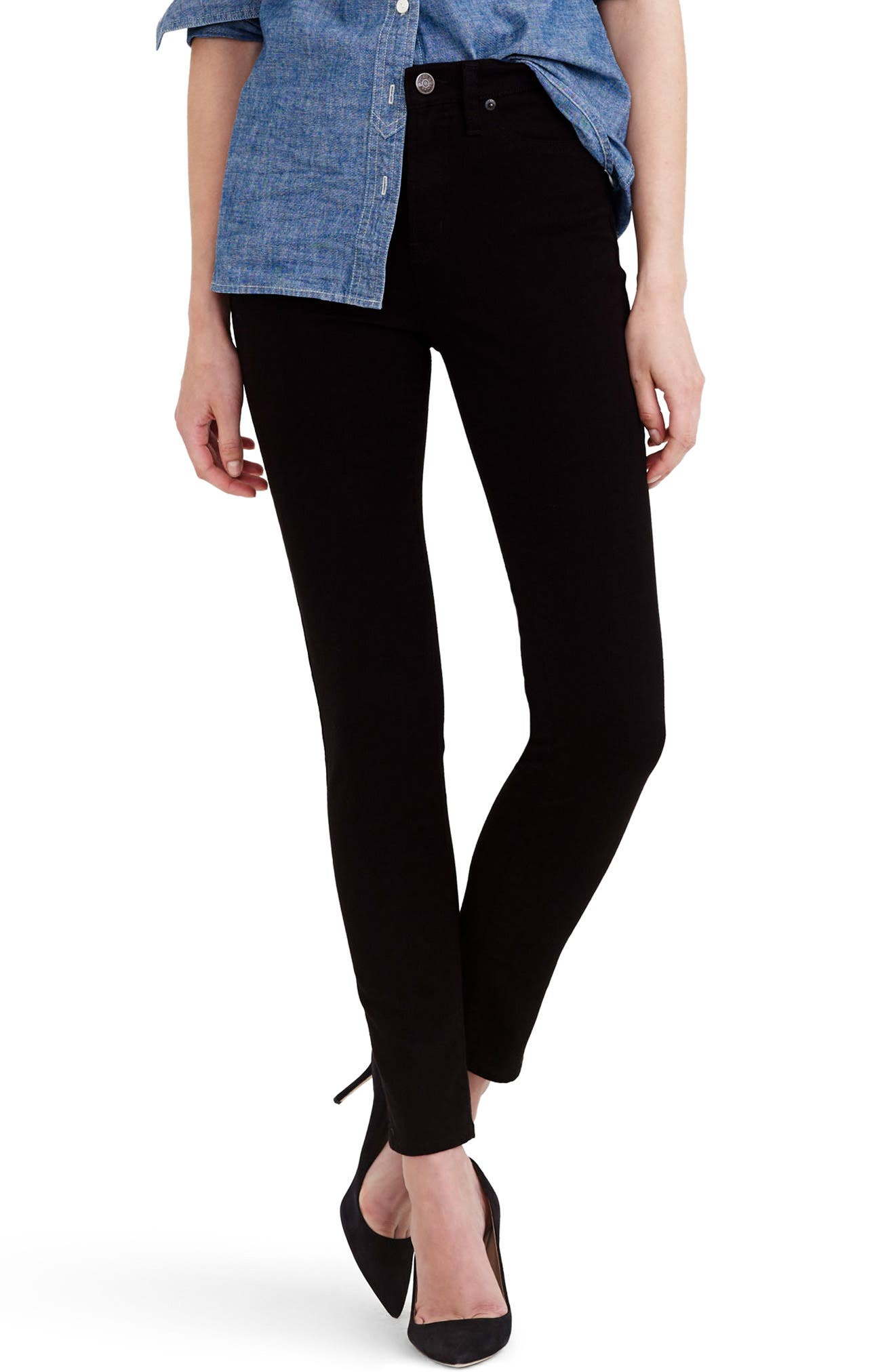 Main Image - J.Crew Lookout High Rise Jeans (Regular & Petite)