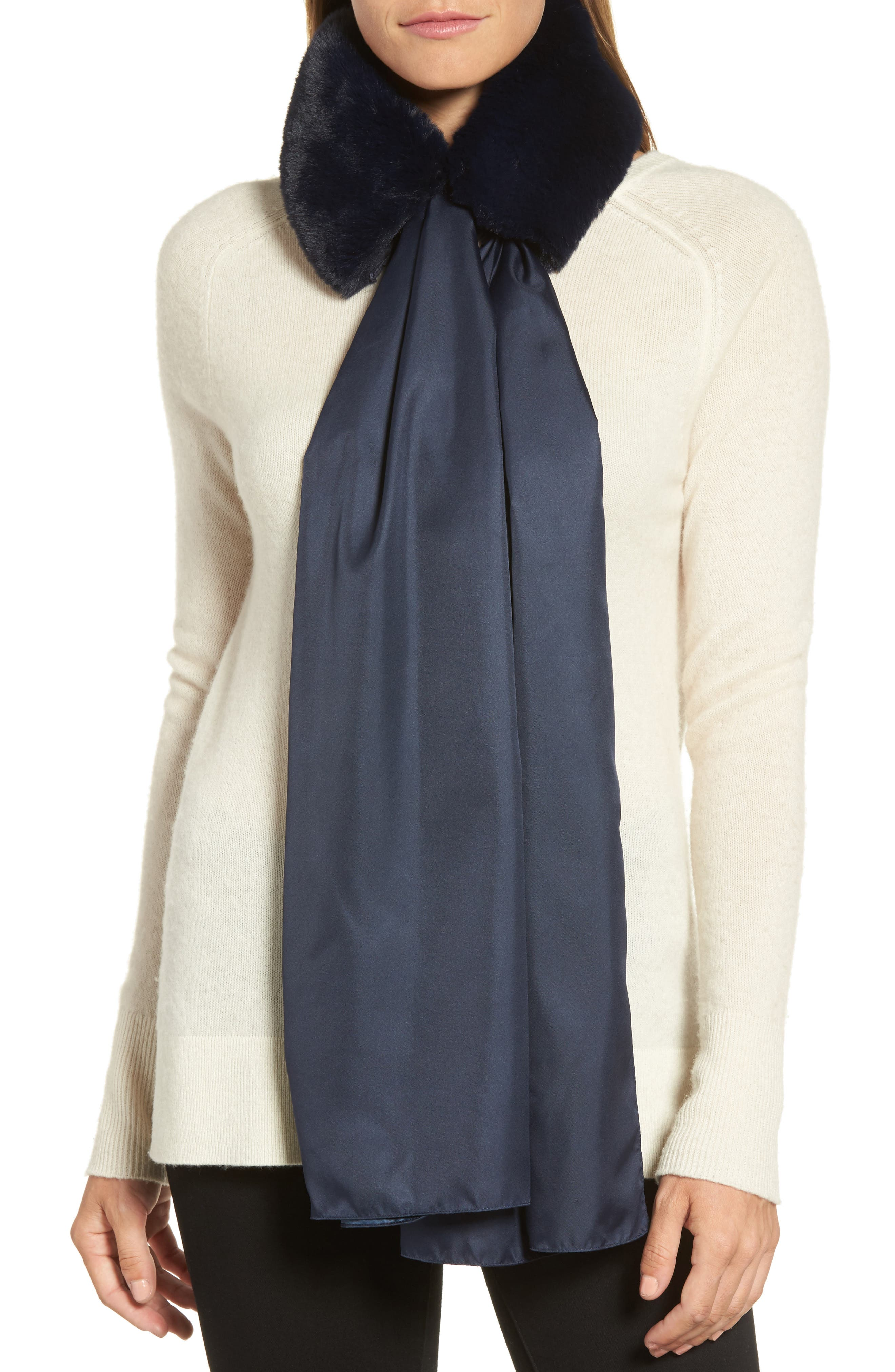 Echo The Anastasia Faux Fur Collar with Removable Scarf