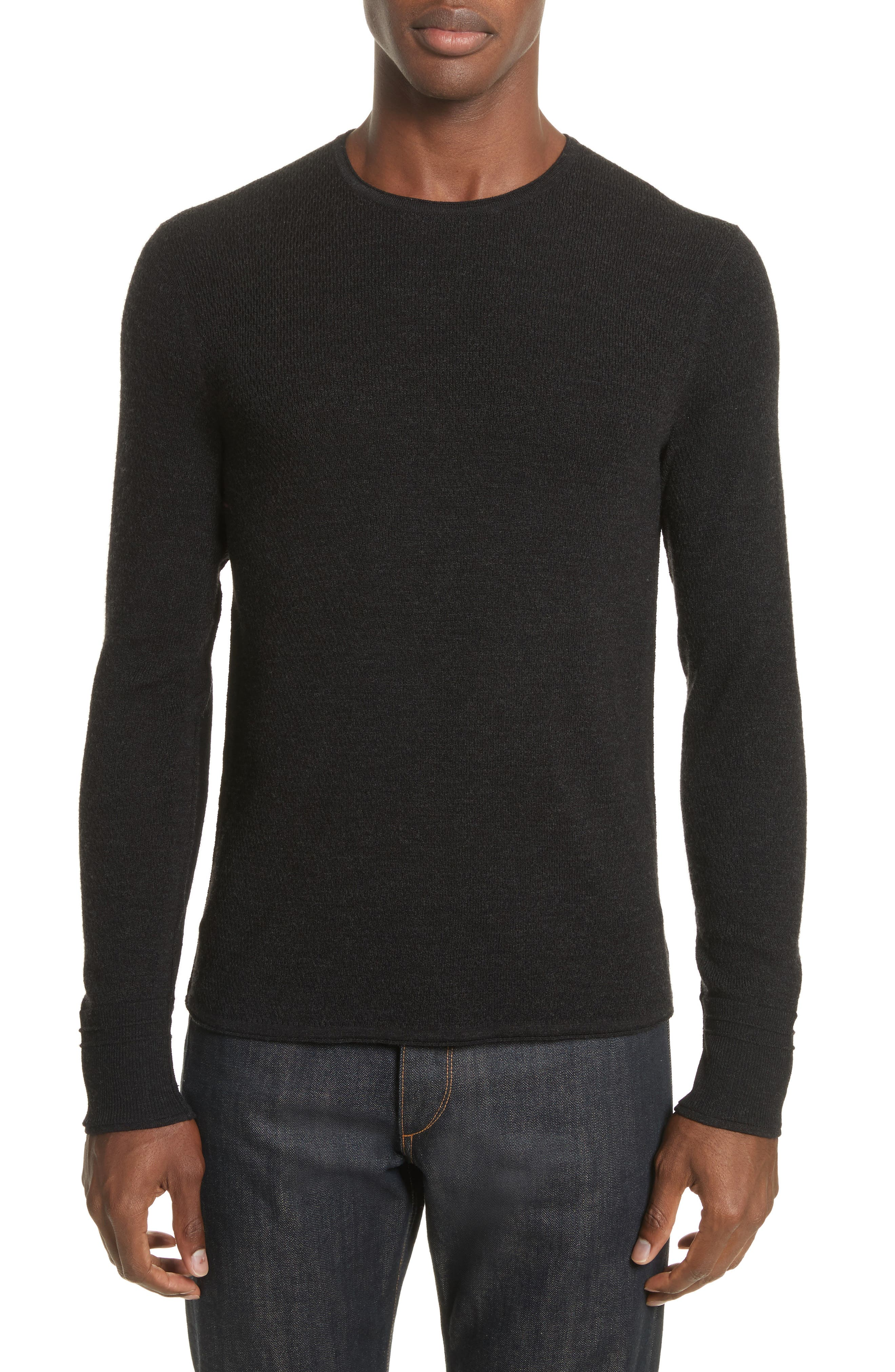 Gregory Crewneck Sweater,                         Main,                         color, Black