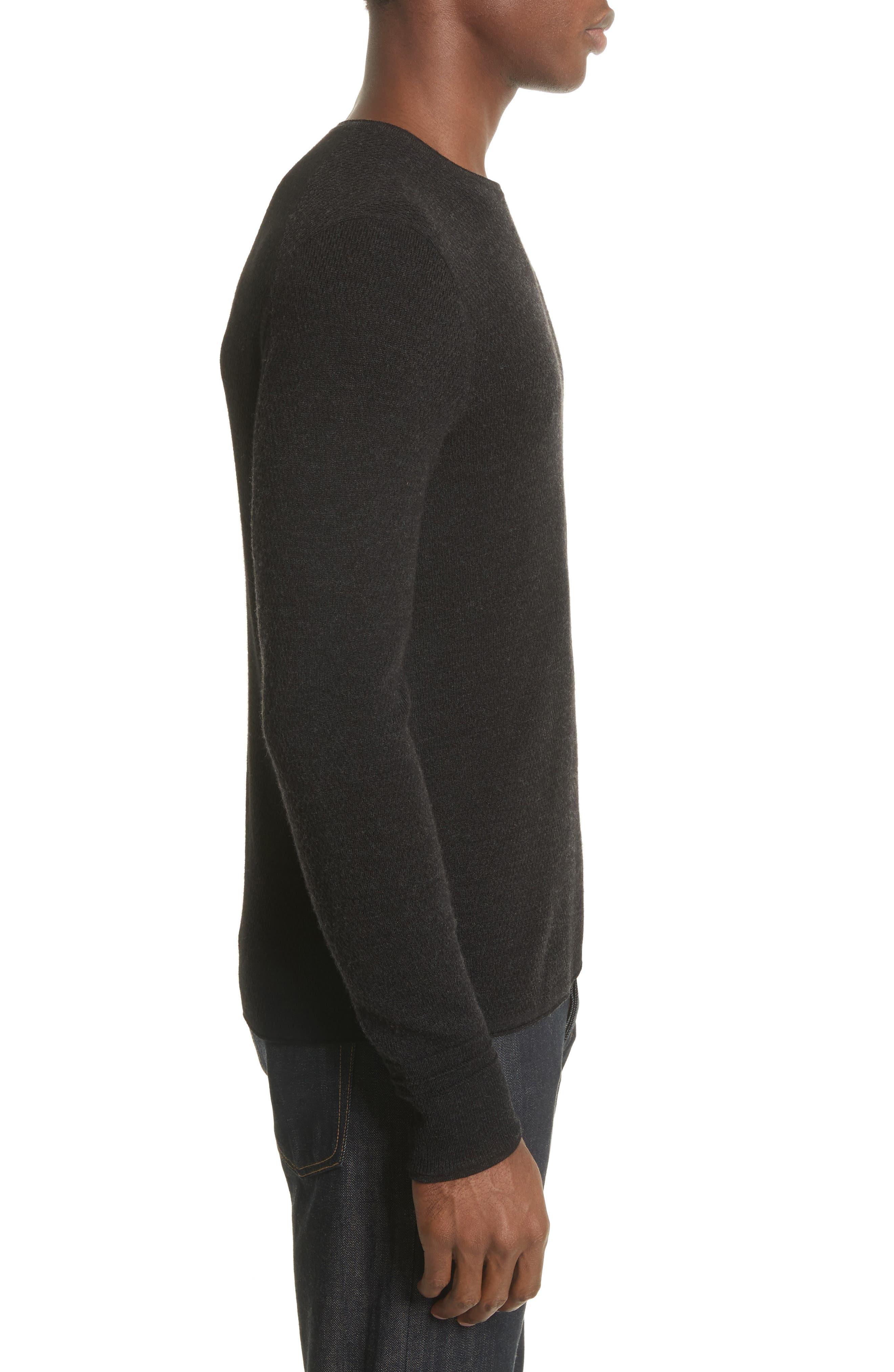 Gregory Crewneck Sweater,                             Alternate thumbnail 3, color,                             Black