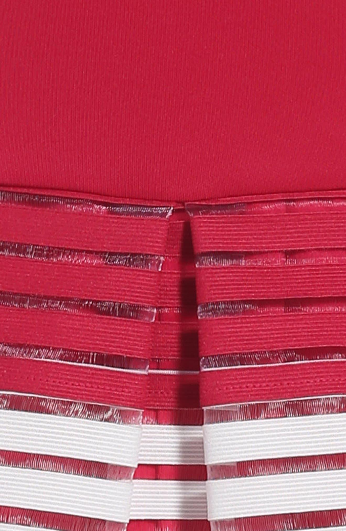 Alternate Image 3  - BLUSH by US Angels Elastic Stripe Dress (Big Girls)