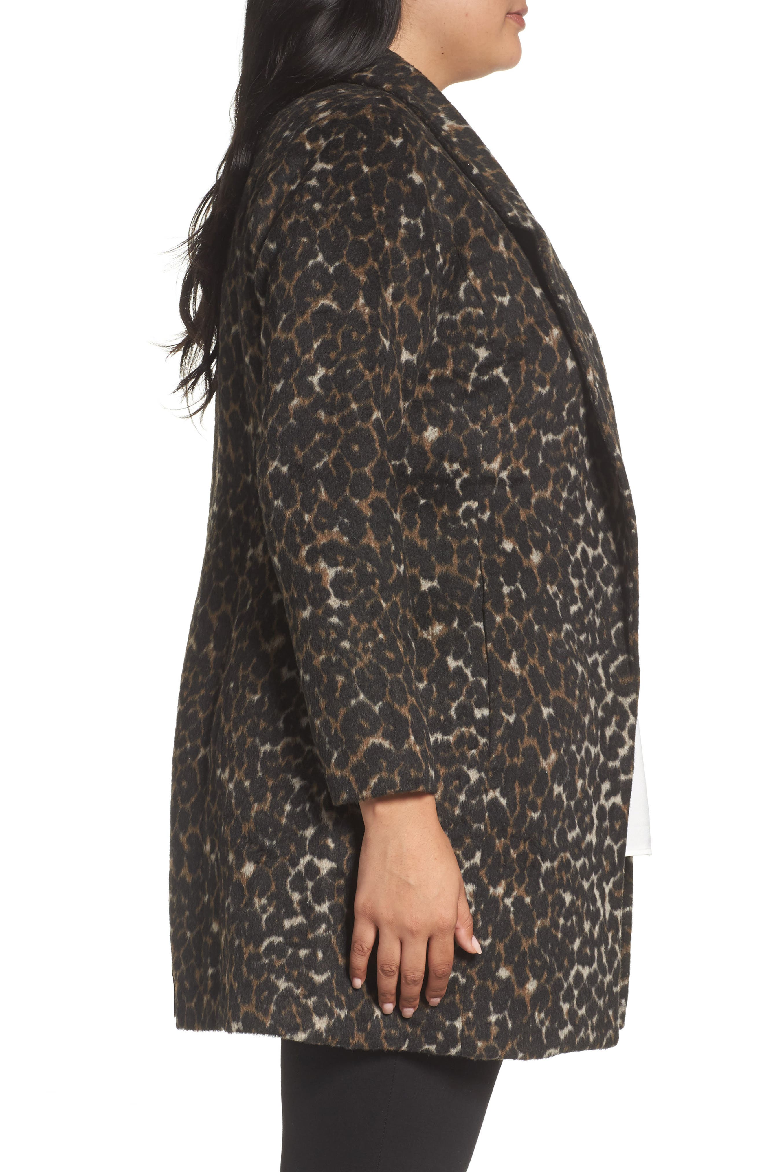 Alternate Image 3  - Sejour Leopard Print Jacket (Plus Size)